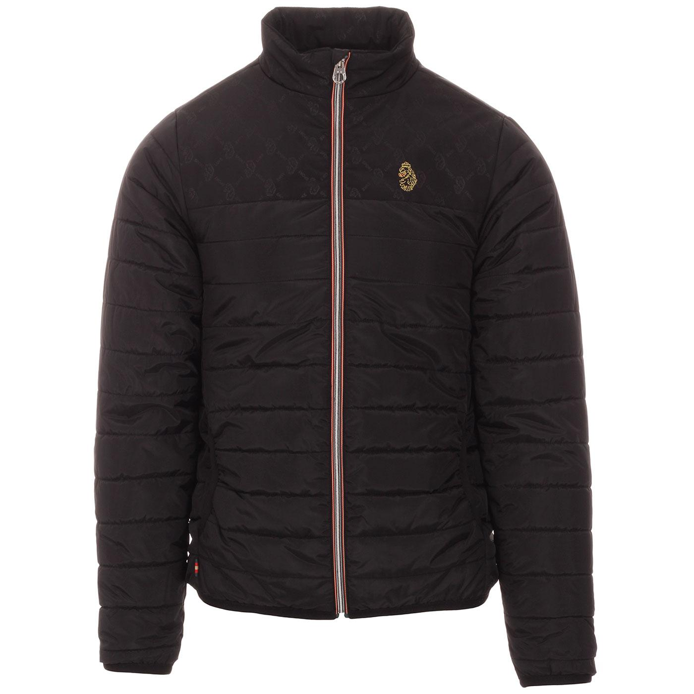 Sinartra Q LUKE Funnel Neck Quilted Jacket (Black)