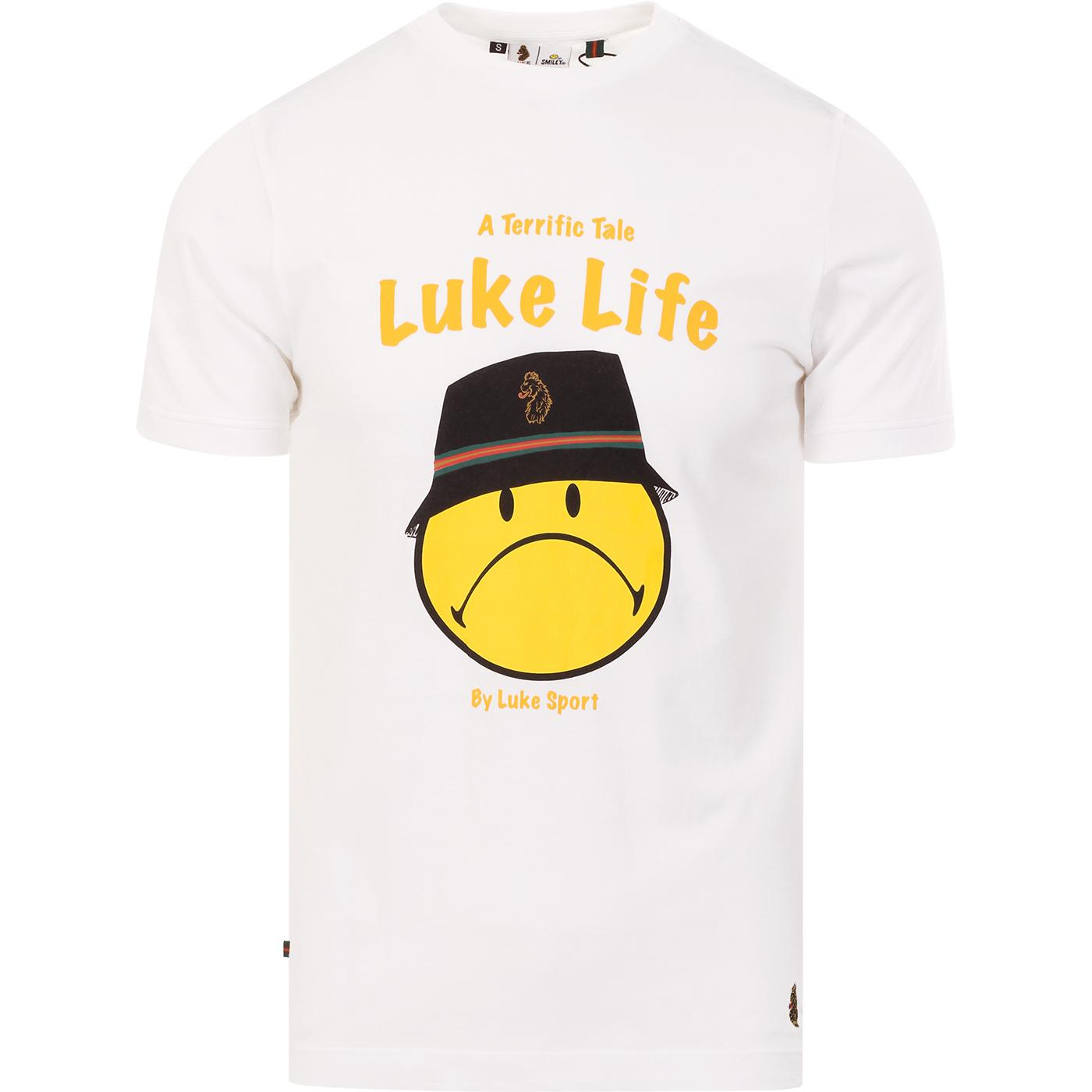 LUKE x SMILEY Luke Life Retro Rave Tee (White)