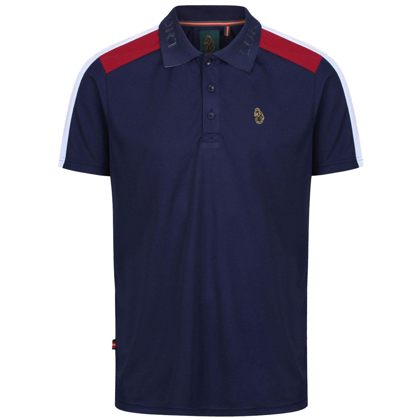 Spinna LUKE SPORT Men's Jacquard Text Polo Shirt