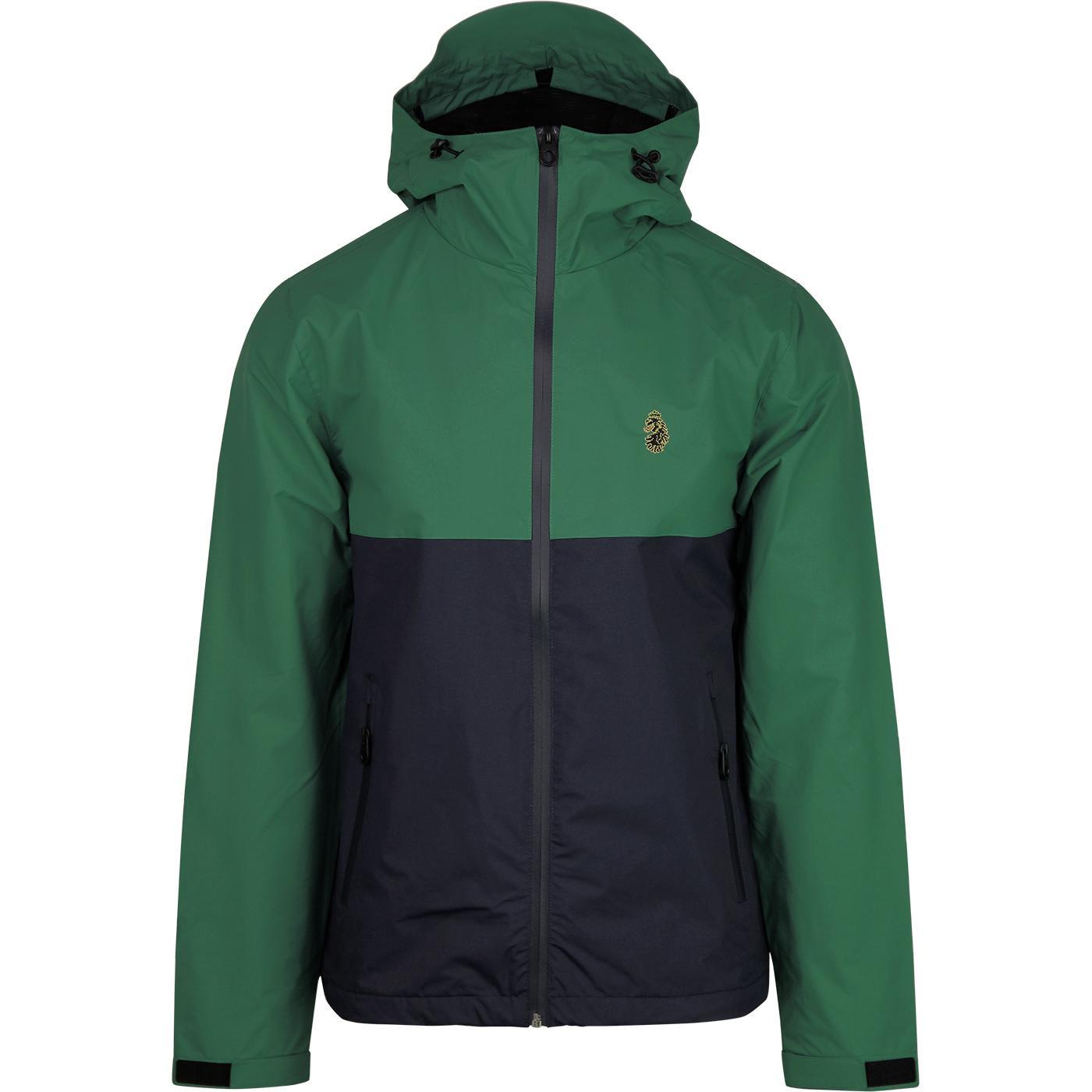 Strada LUKE Retro Colour Block Hooded Jacket NAVY