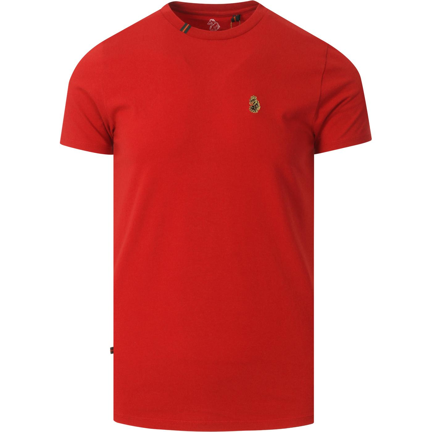 Super LUKE Retro Tape Trim Collar Plain Tee (TR)