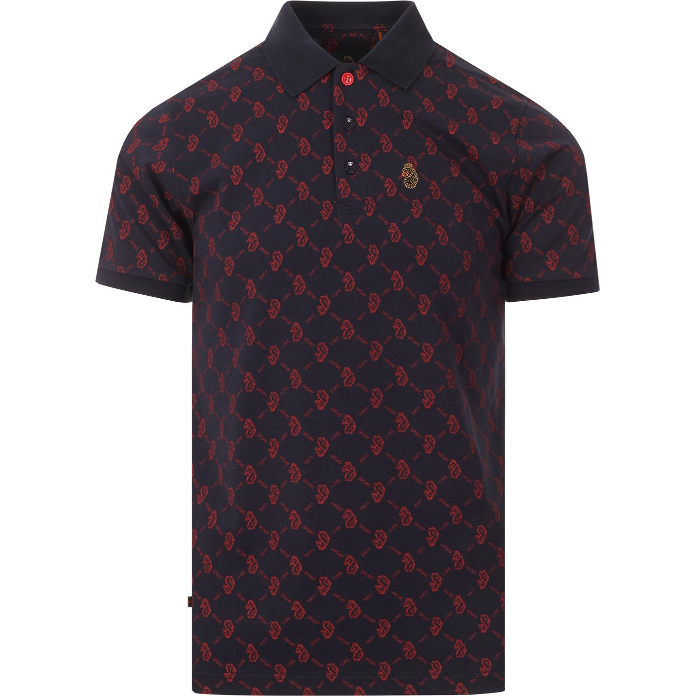 Throne LUKE SPORT Retro Lion Argyle Polo Top (DN)