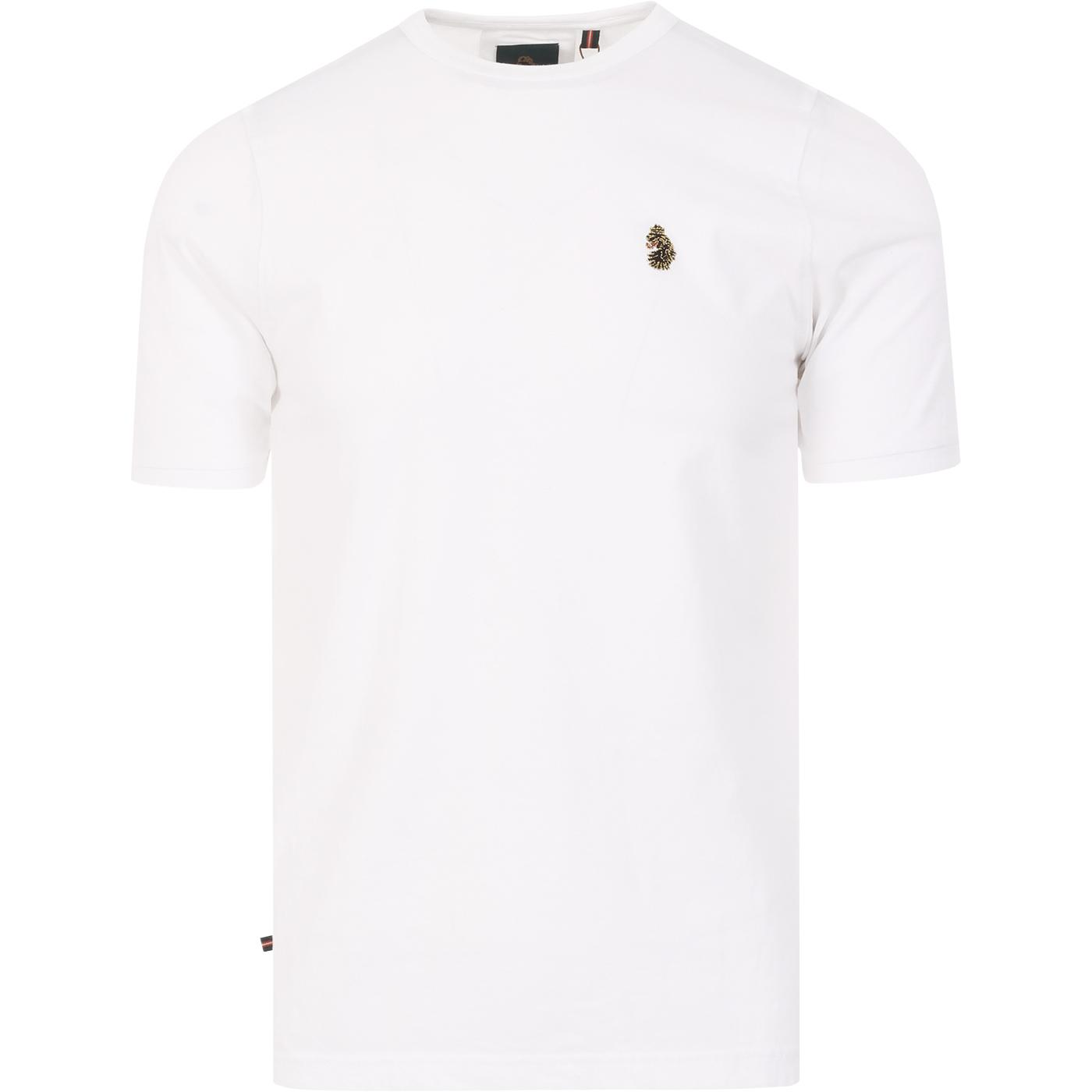 Traff LUKE Men's Core Crew Neck T-shirt (White)