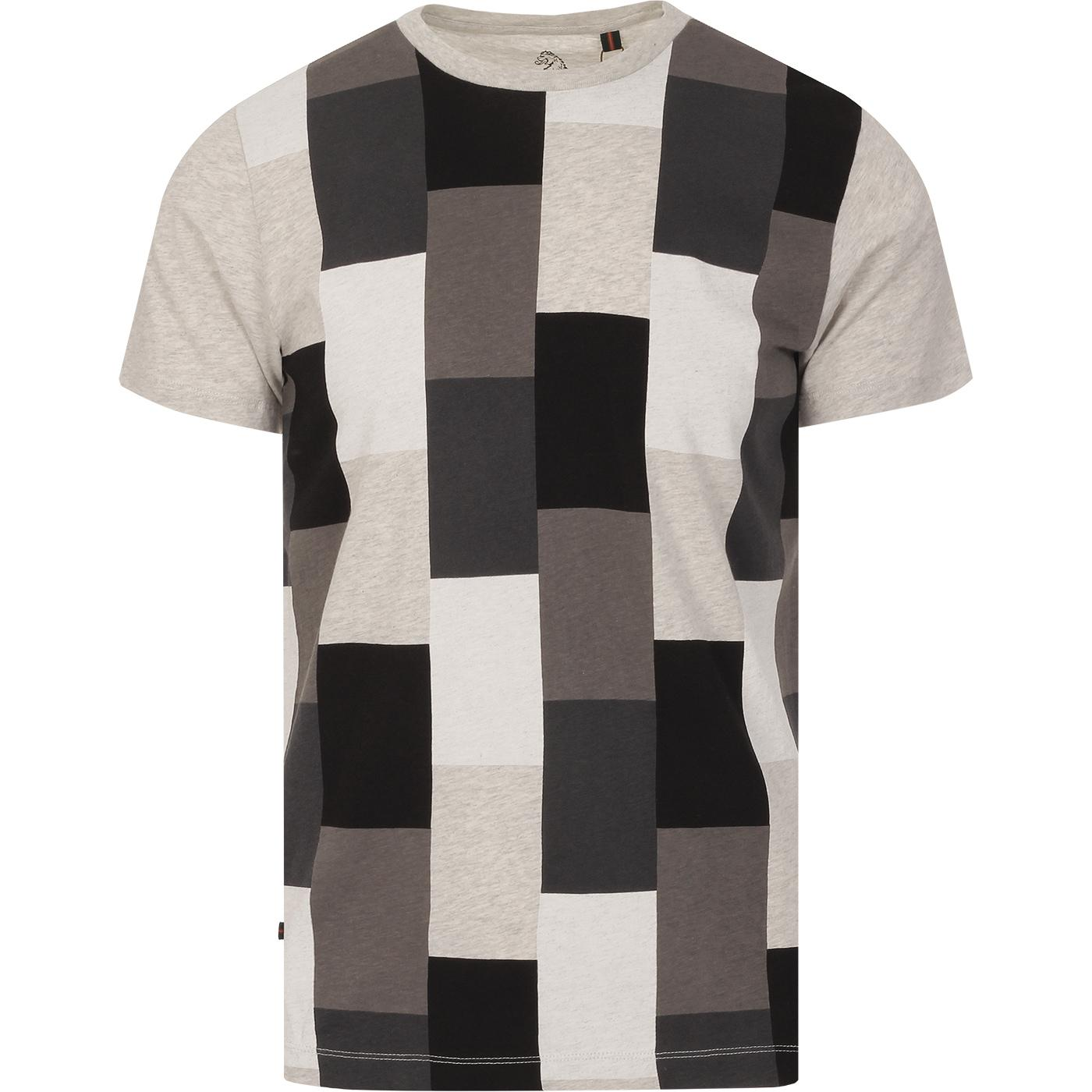 Gusty LUKE Retro Colour Block Checker Tee (Grey)