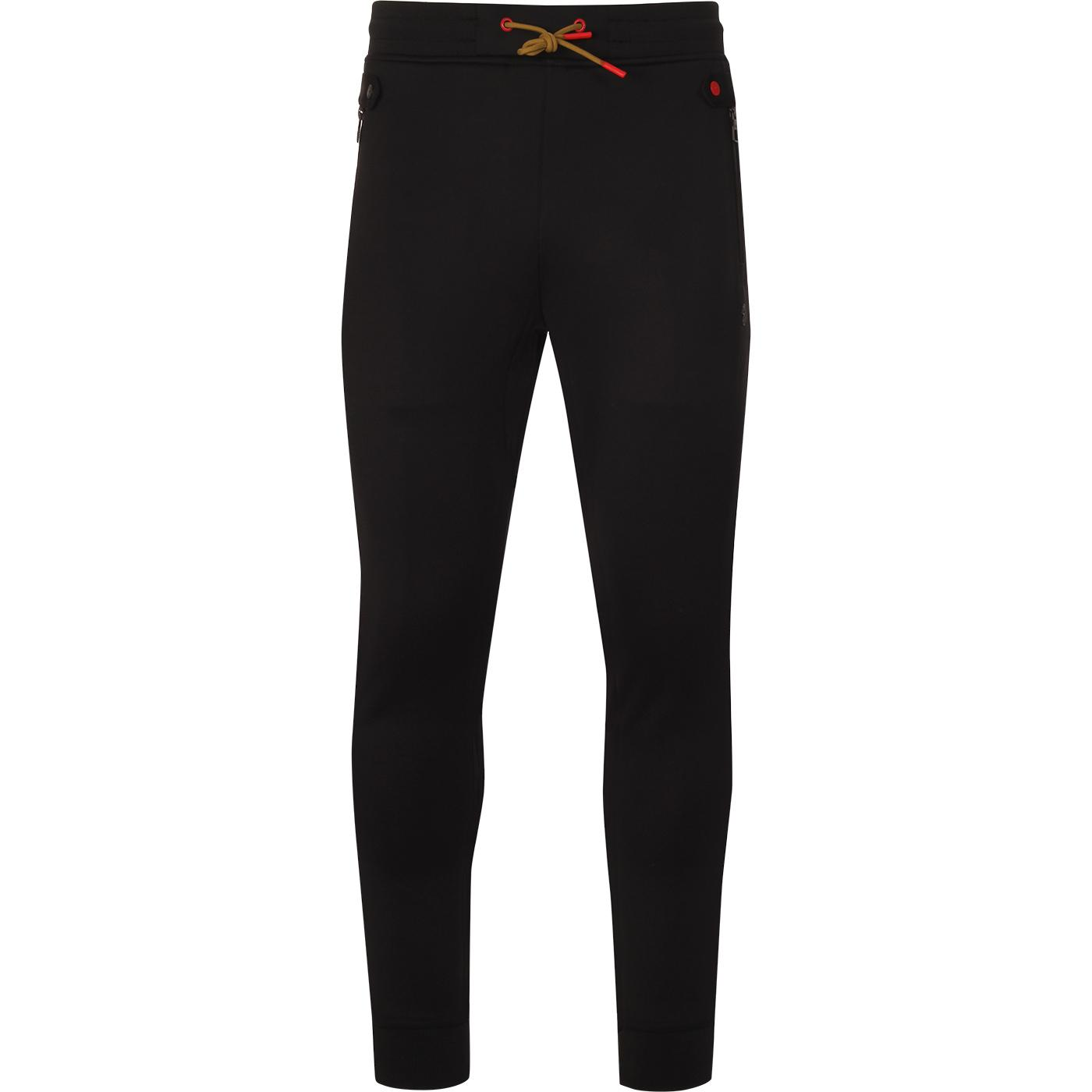 Straightnose LUKE Retro Cuffed Track Pants (Black)