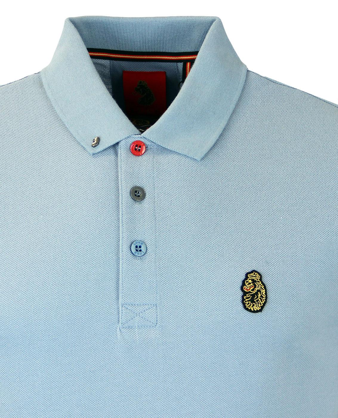 Mens LUKE 1977 Cotton Casual Short Sleeve Pique Polo Shirt Sizes from S to XXL
