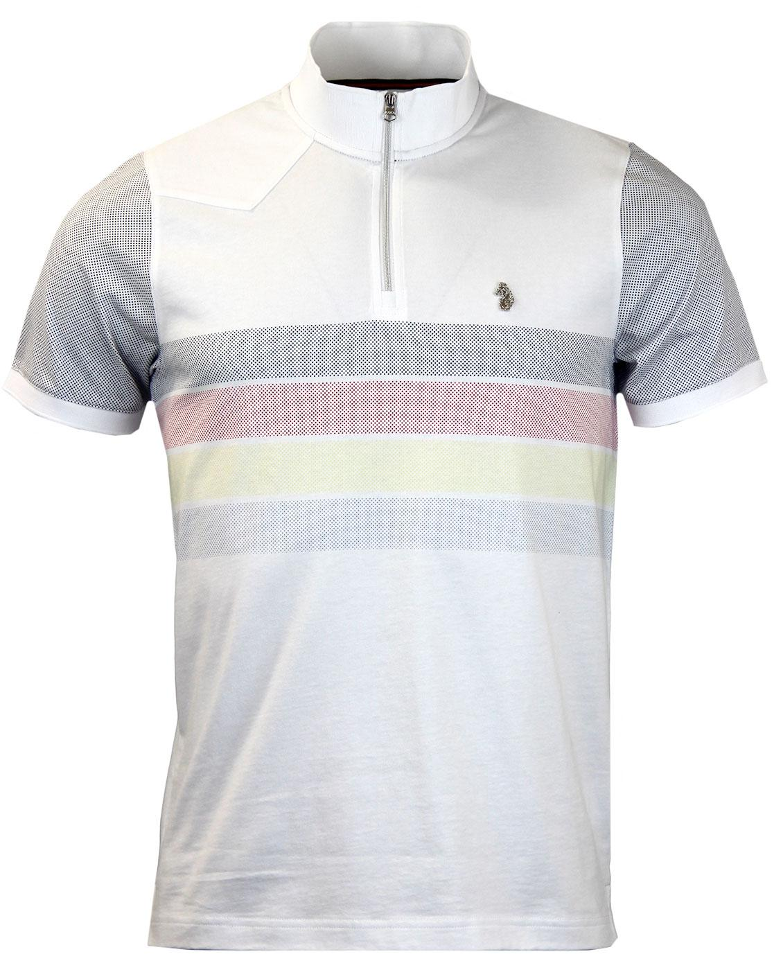 Monthly LUKE 1977 Mod Pin Dot Stripe Cycling Top