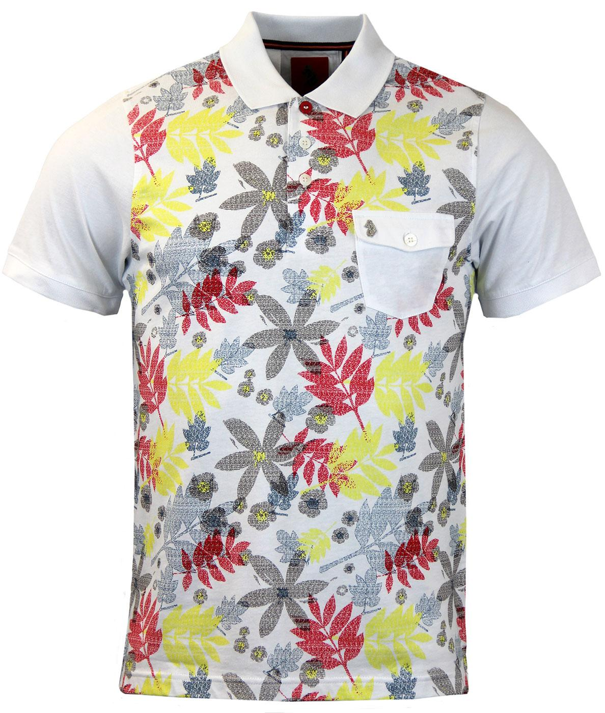 Tapestry LUKE 1977 Retro Floral Printed Polo (W)