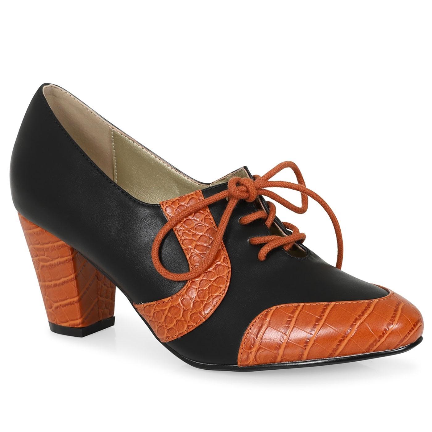 Agnes LULU HUN Retro Vintage 50s Shoes in Black