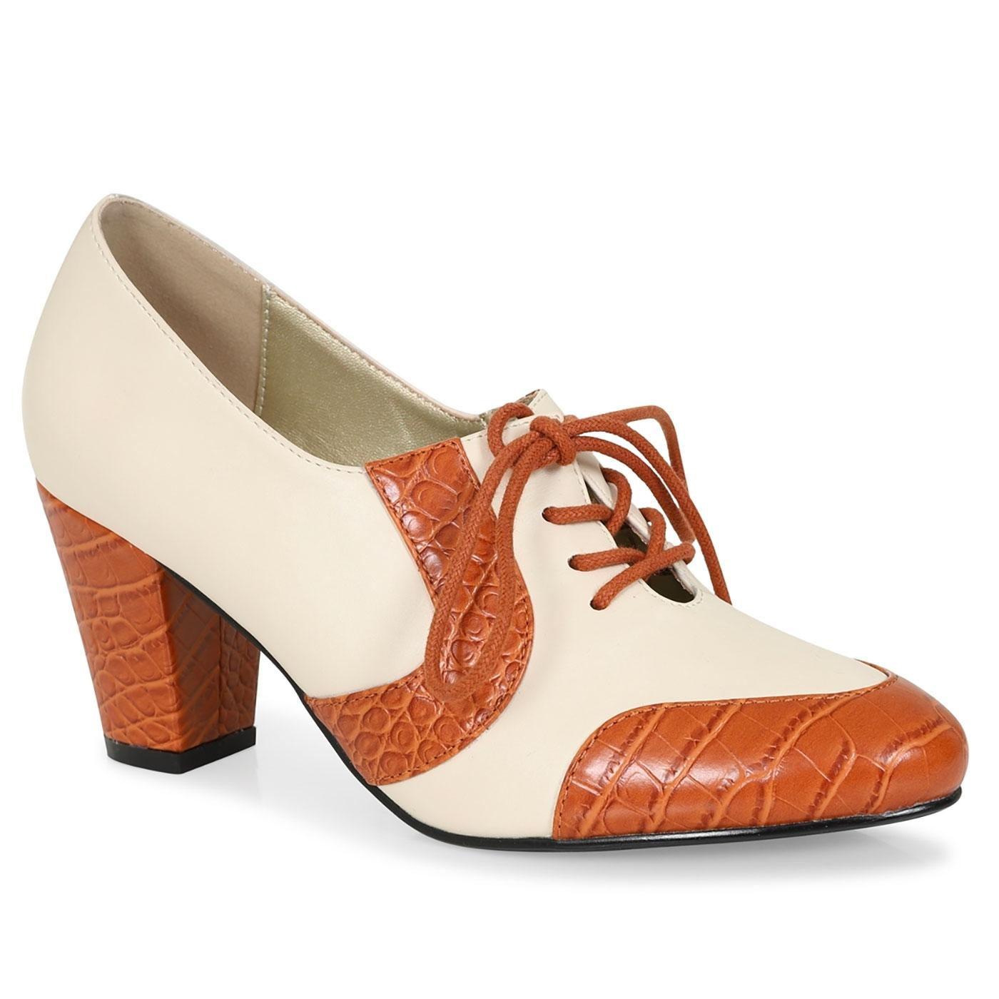 Agnes LULU HUN Retro Vintage 50s Shoes in Ivory