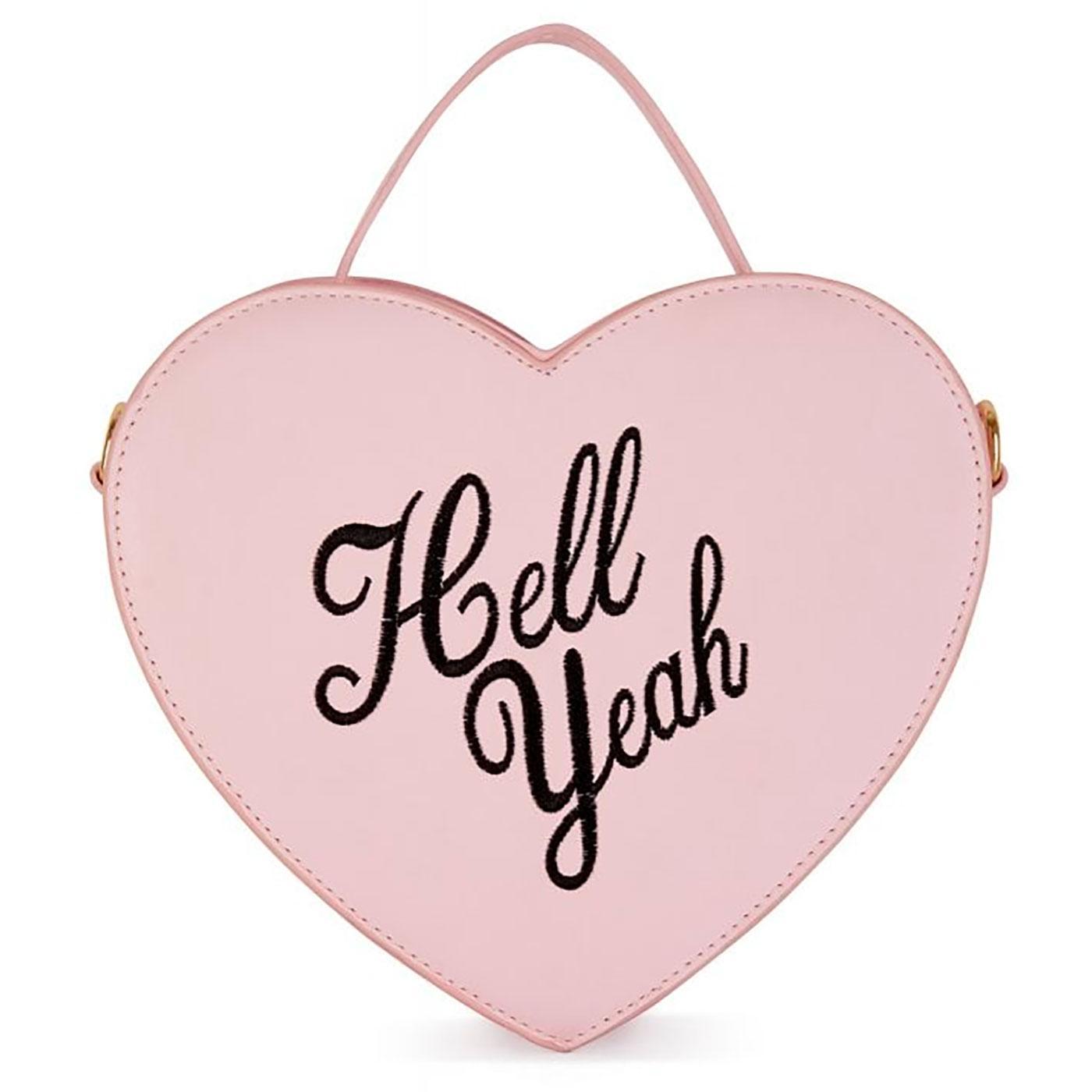 Bina LULU HUN Retro 50s Hell Yeah Heart Shaped Bag