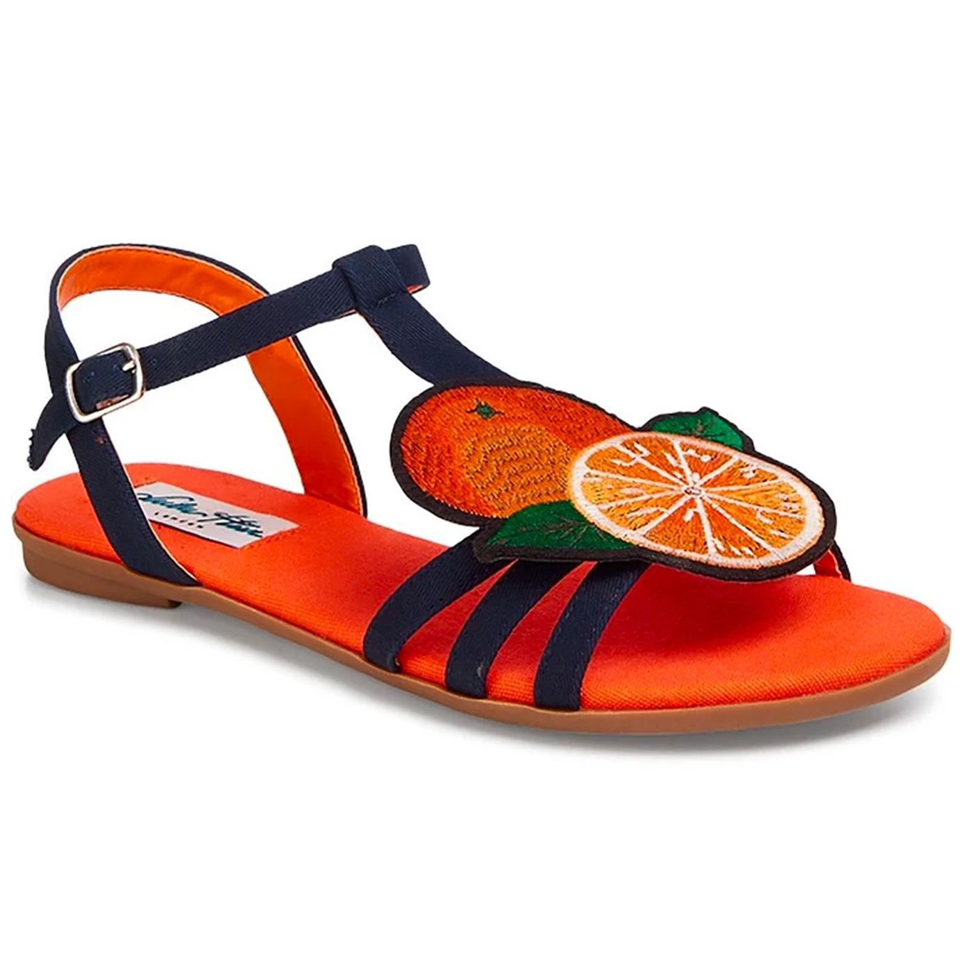 Lottie LULU HUN Retro 60s Orange Strappy Sandals