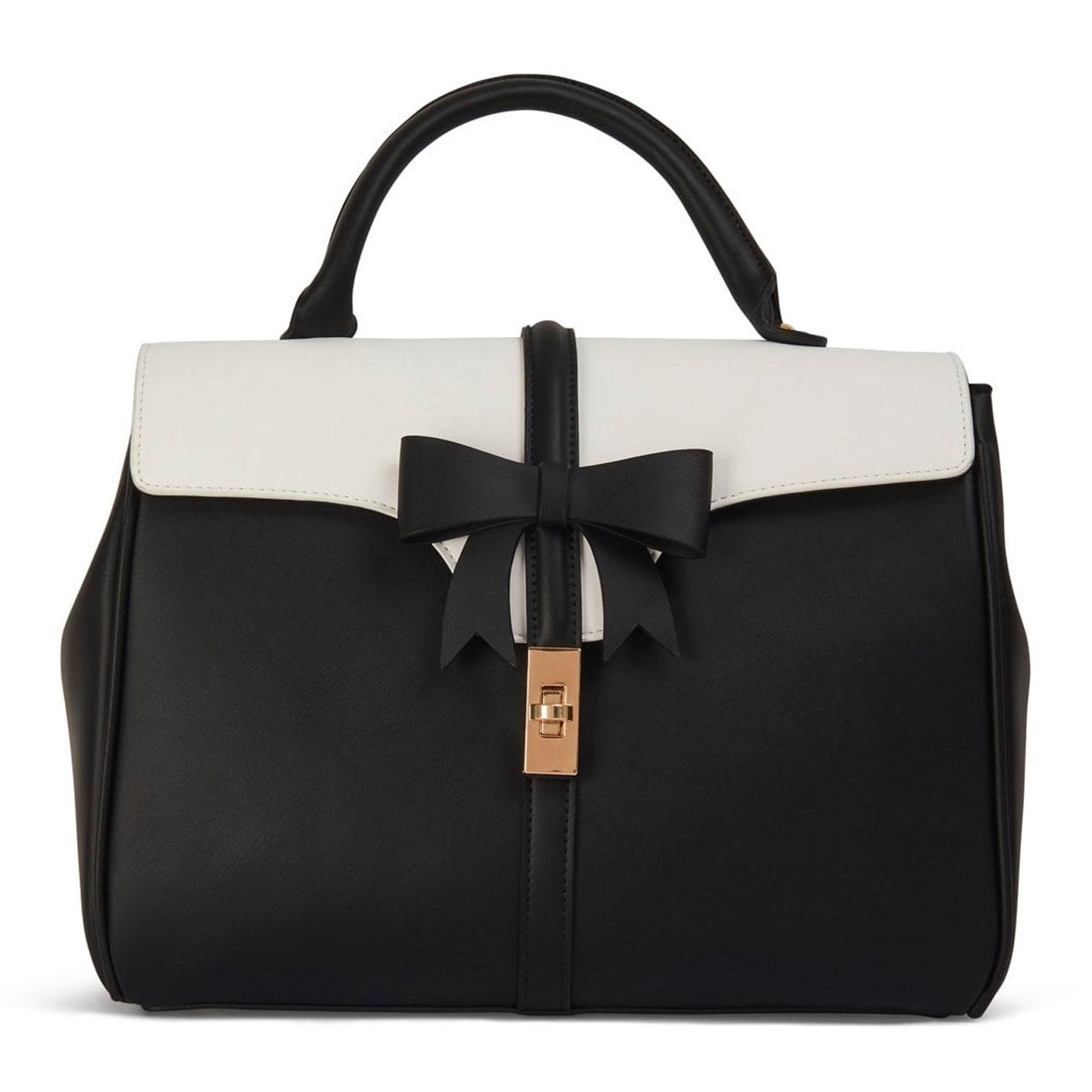 Roberta LULU HUN Retro Vintage Bow Bag in Black
