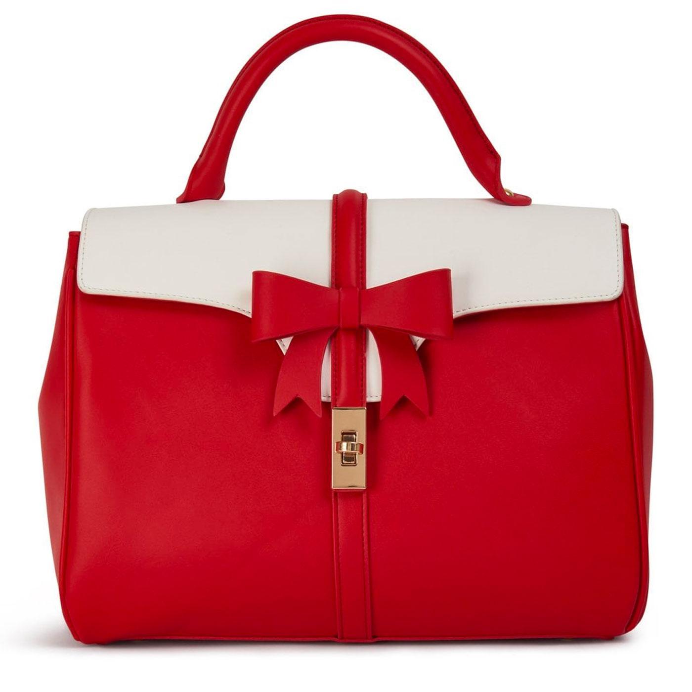 Roberta LULU HUN Retro Vintage Bow Bag in Red