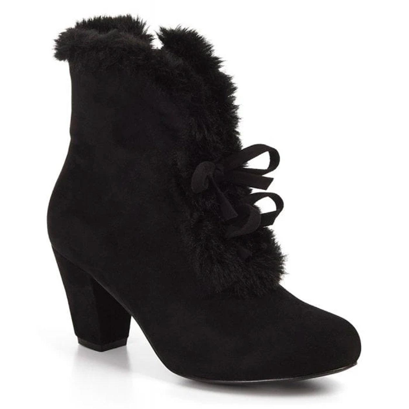 Tatiana LULU HUN Vintage 40s Style Faux Fur Boots