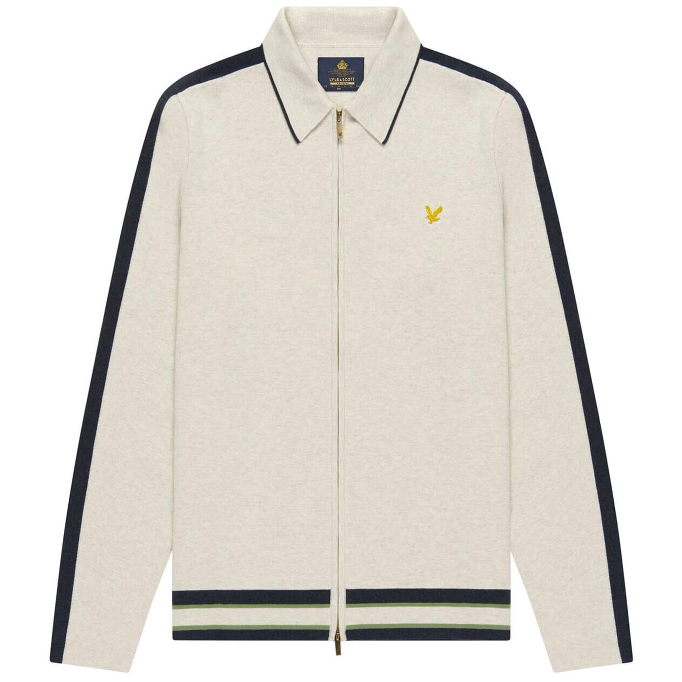 LYLE & SCOTT Archive Mod Knitted Zip Polo Cardigan