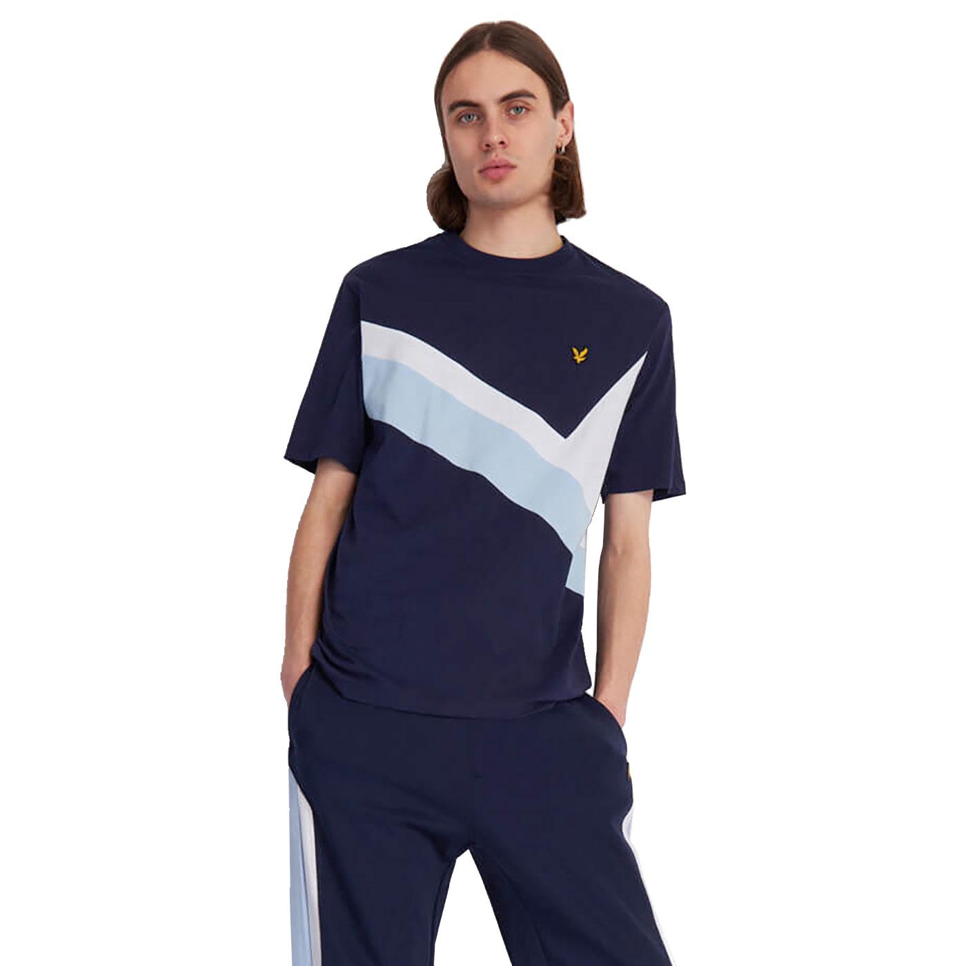 LYLE & SCOTT Men's Retro 80's Archive Panel Tee N