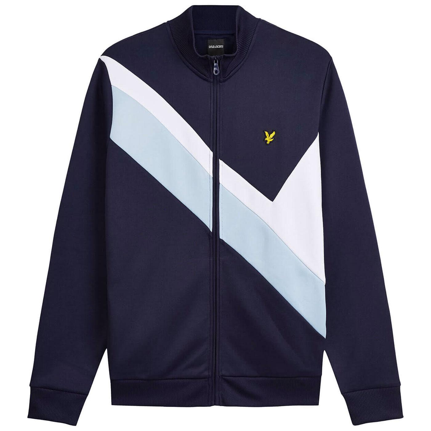 LYLE AND SCOTT Retro 80s Archive Panel Track Top