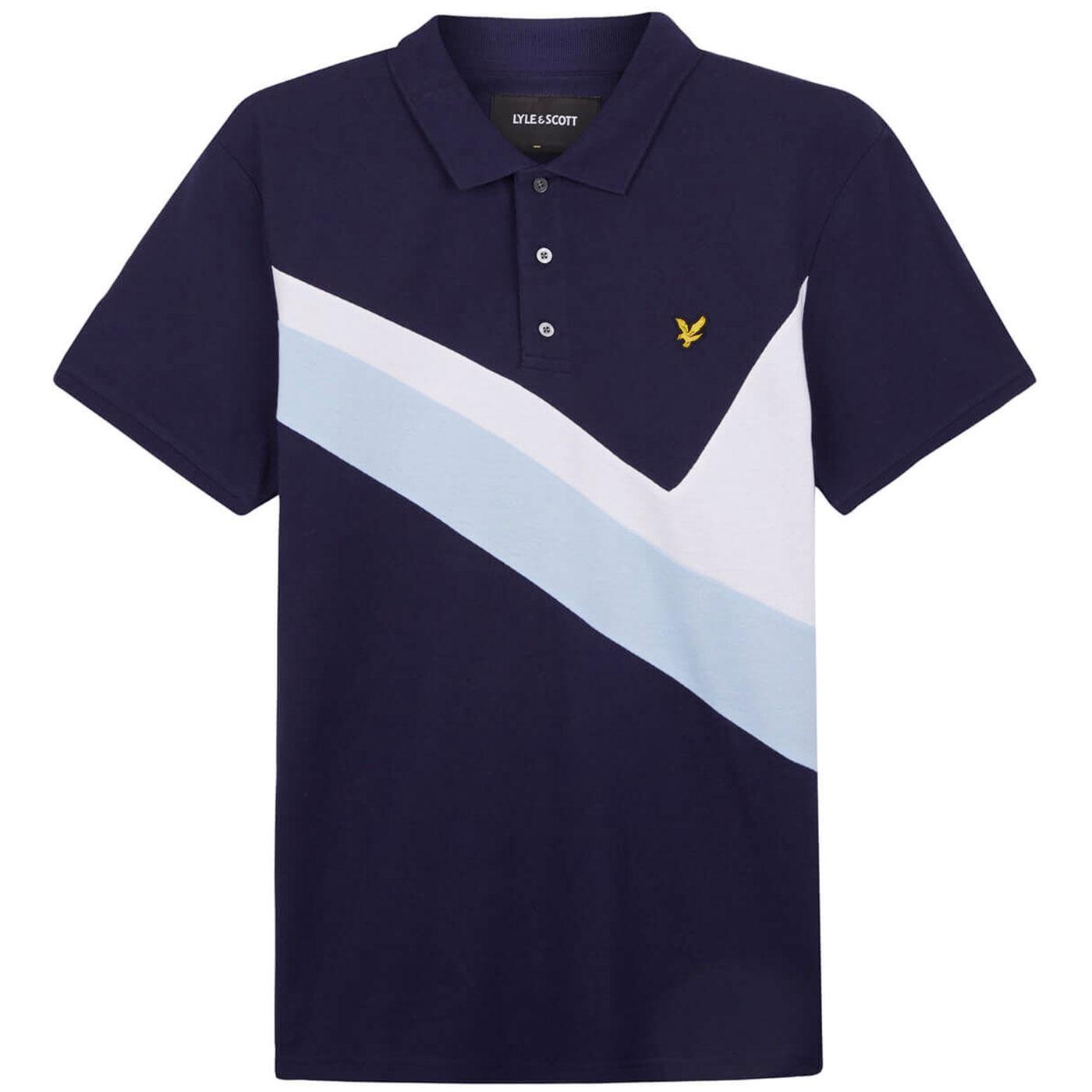 LYLE & SCOTT 80's Archive Panel Pique Polo Shirt N