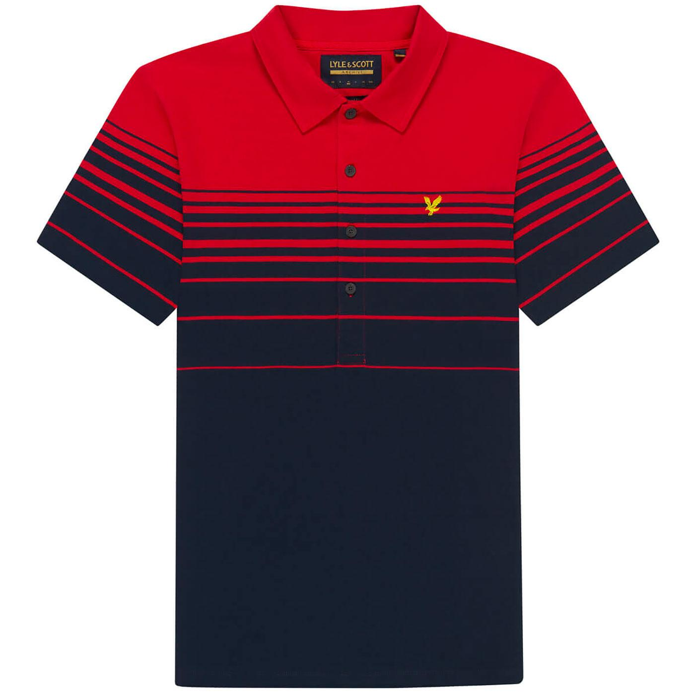 LYLE & SCOTT Archive Mod Placement Stripe Polo CR