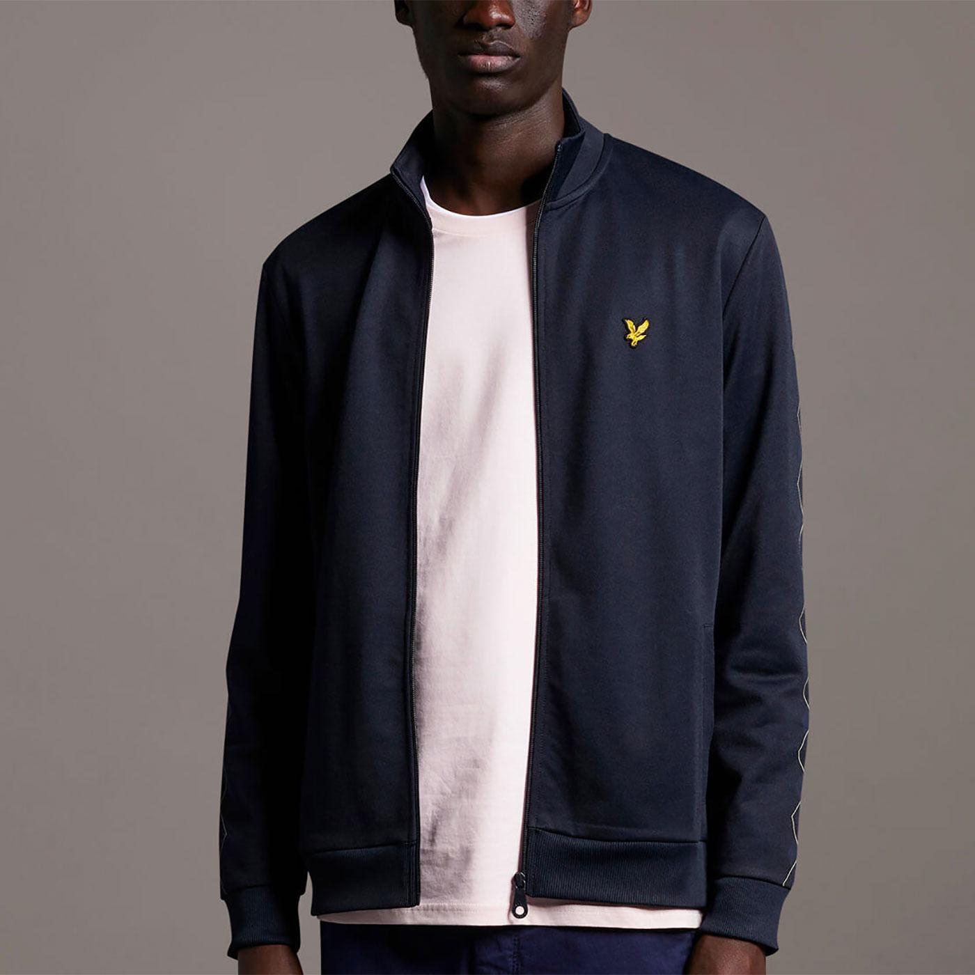 LYLE & SCOTT Retro Argyle Zip Through Track Top
