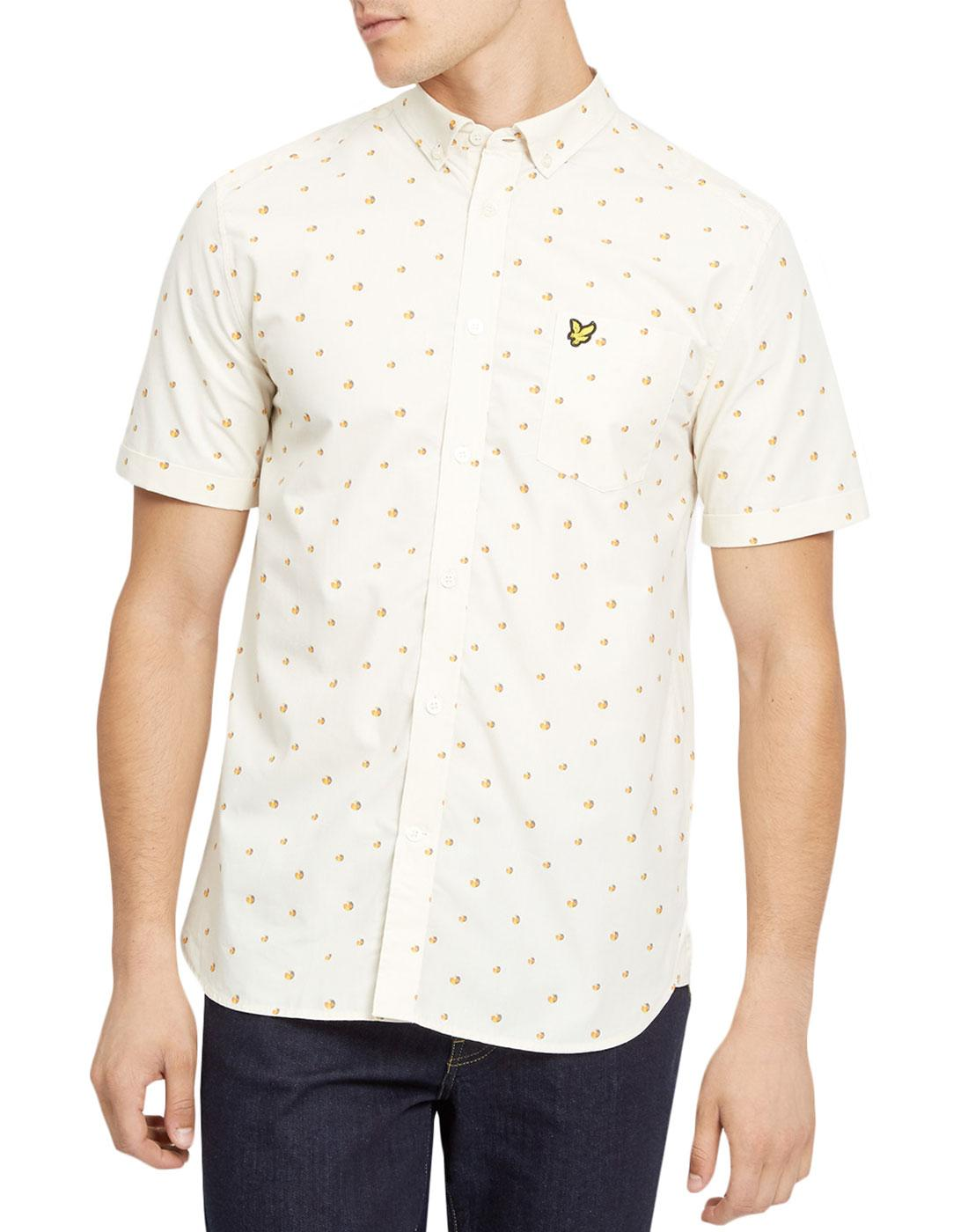 LYLE & SCOTT Retro 70s Geo Beach Ball Print Shirt