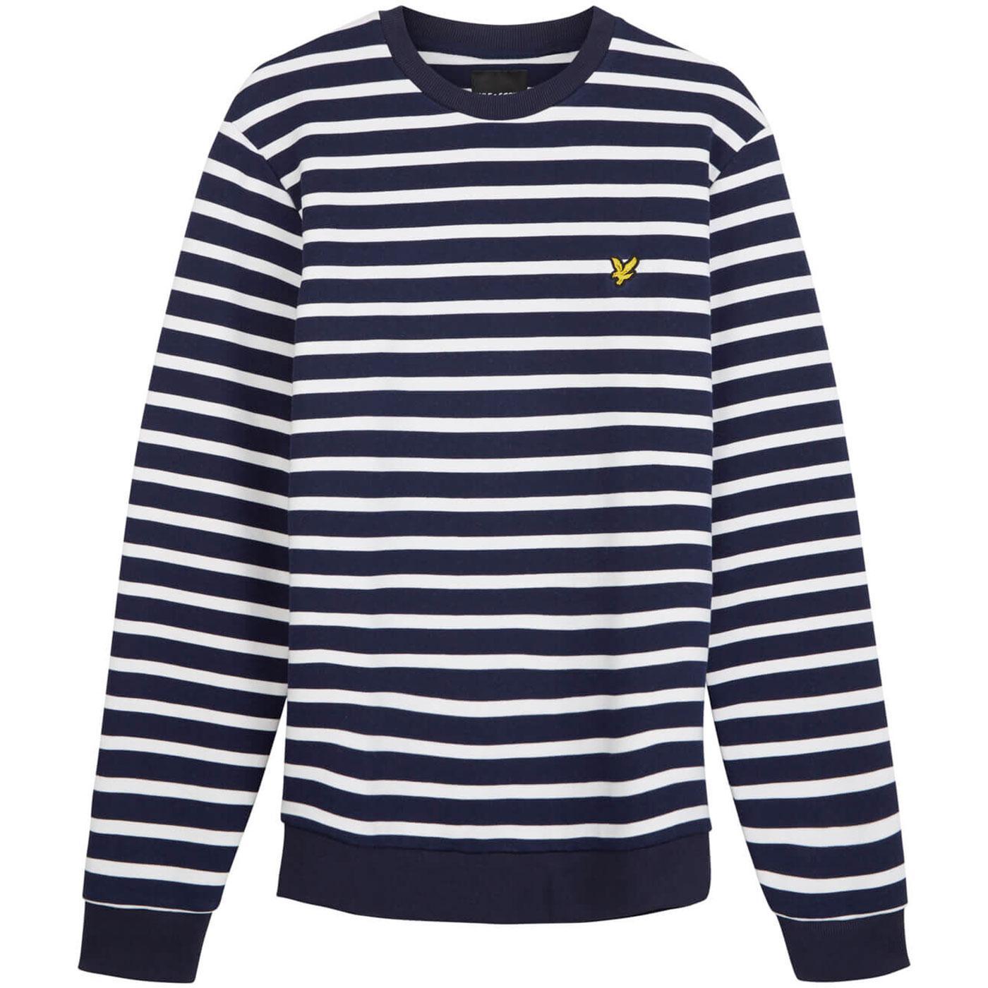 LYLE & SCOTT Men's Retro Breton Stripe Sweatshirt