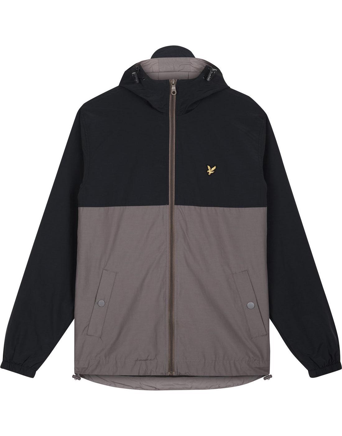LYLE & SCOTT Retro Colour Block Hooded Jacket NAVY