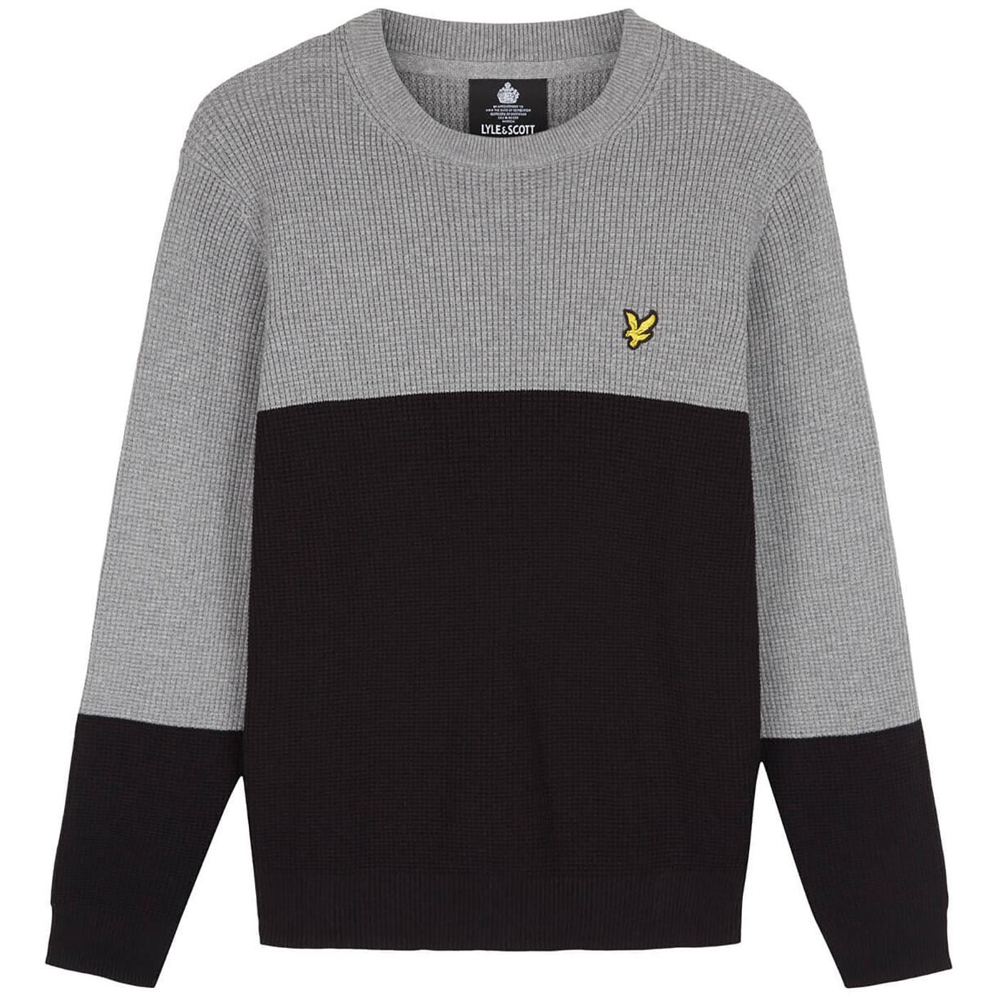 LYLE & SCOTT Retro Knitted Colour Block Jumper