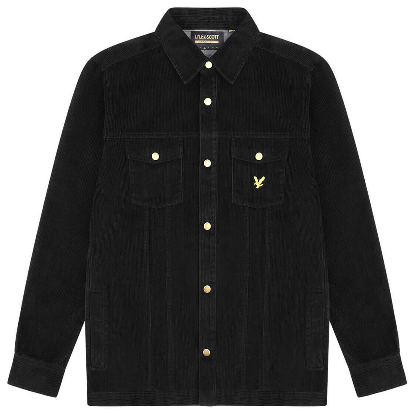 LYLE & SCOTT Retro 70s Jumbo Cord Overshirt B
