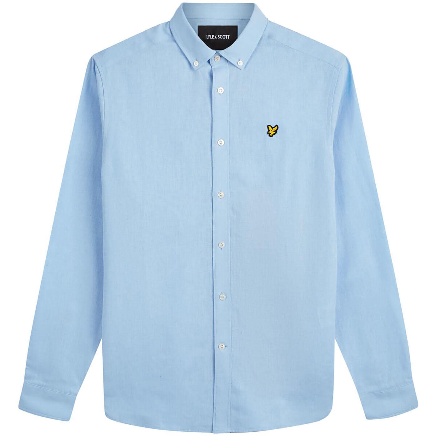 LYLE AND SCOTT 60s Mod BD Cotton Linen Shirt (PB)