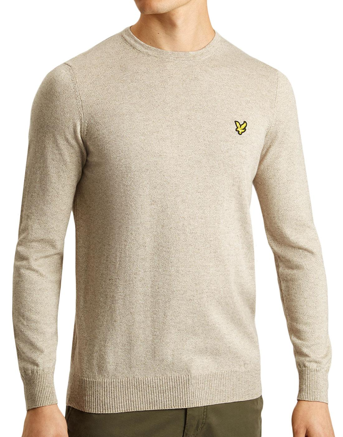 LYLE & SCOTT Mod Cotton Merino Knit Jumper BISCUIT