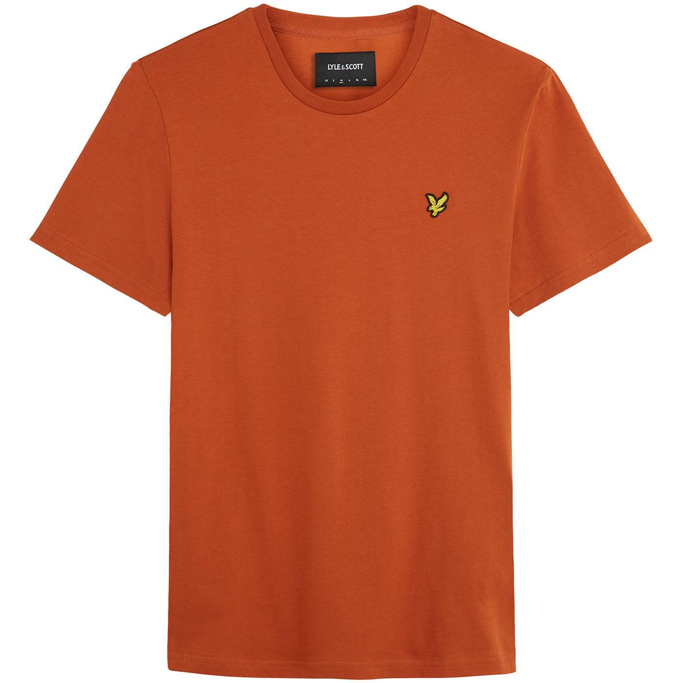 LYLE & SCOTT Men's Crew Neck T-Shirt (Tabacco)