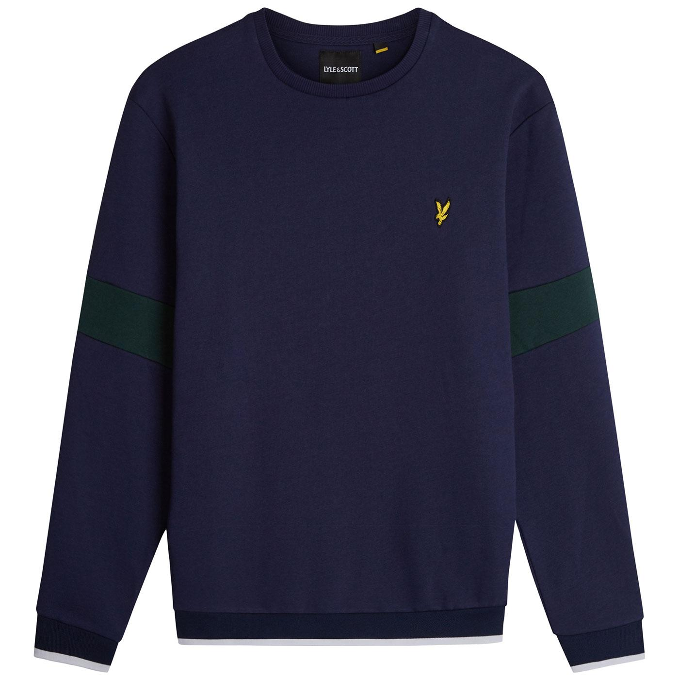 LYLE & SCOTT Indie Tipped Crew Neck Sweatshirt N