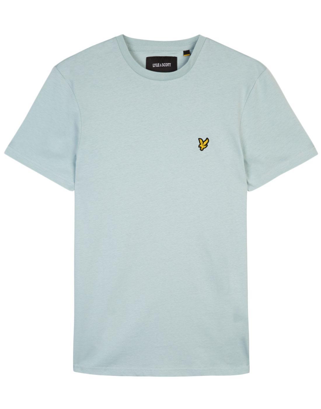 LYLE & SCOTT Retro Crew Neck T-Shirt (Powder Blue)