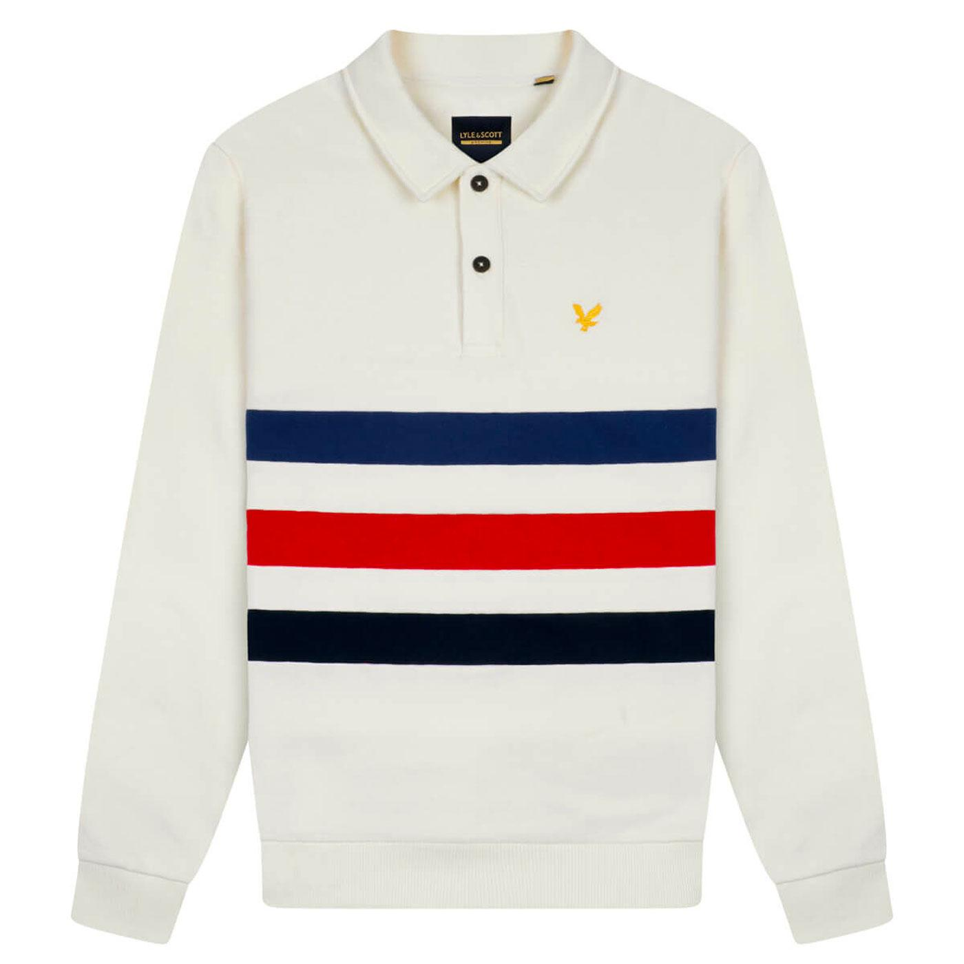LYLE & SCOTT Retro 90s Cut & Sew Long Sleeve Polo