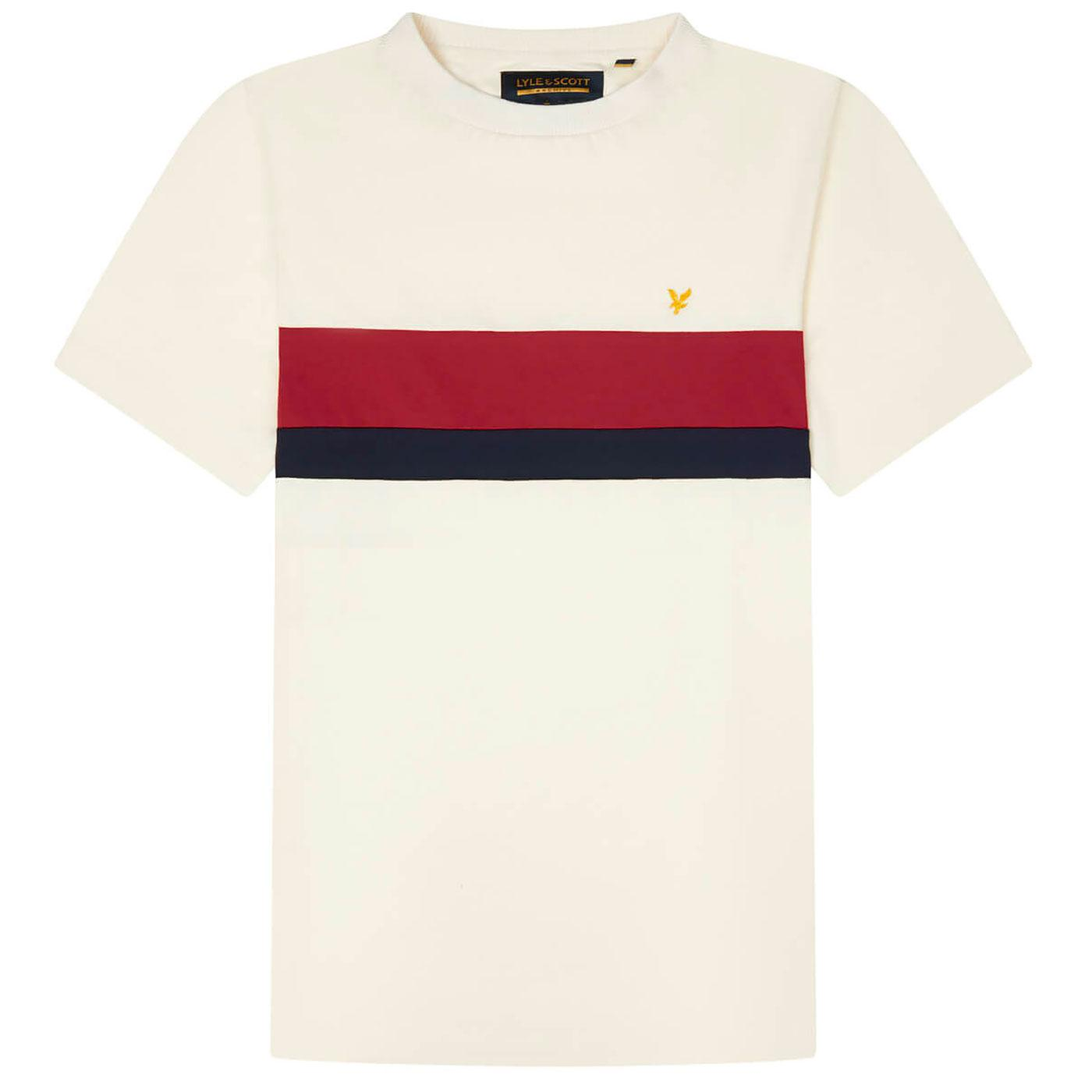 LYLE & SCOTT Archive Retro Chest Stripe Tee (VI)