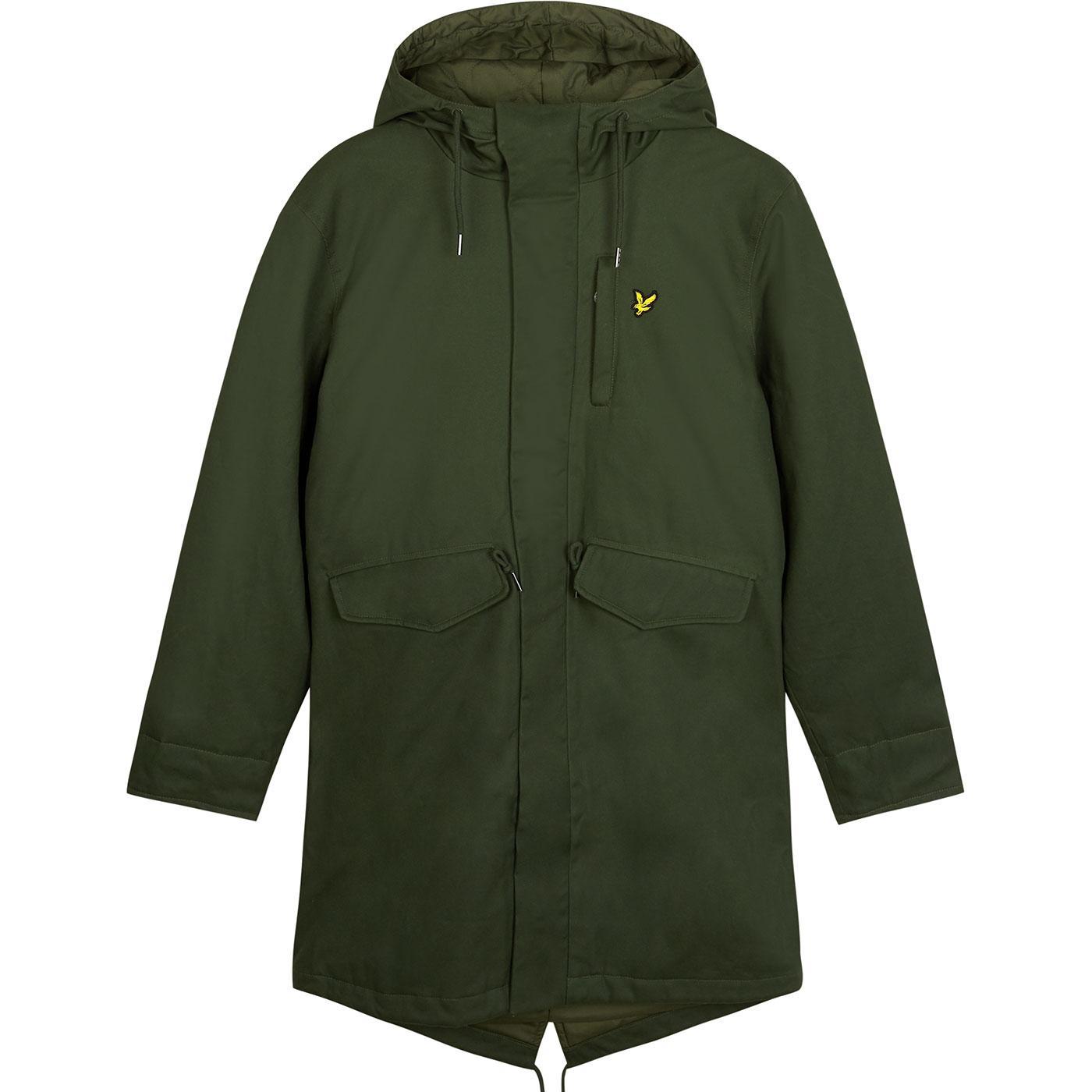 LYLE & SCOTT 60s Mod Waxed Fishtail Parka Jacket G