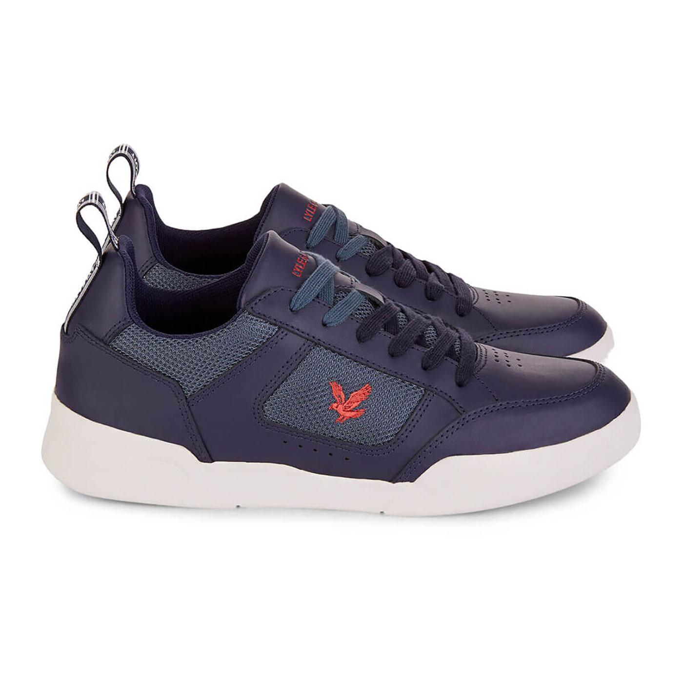 Gilzean LYLE & SCOTT Men's Retro Leather Trainers