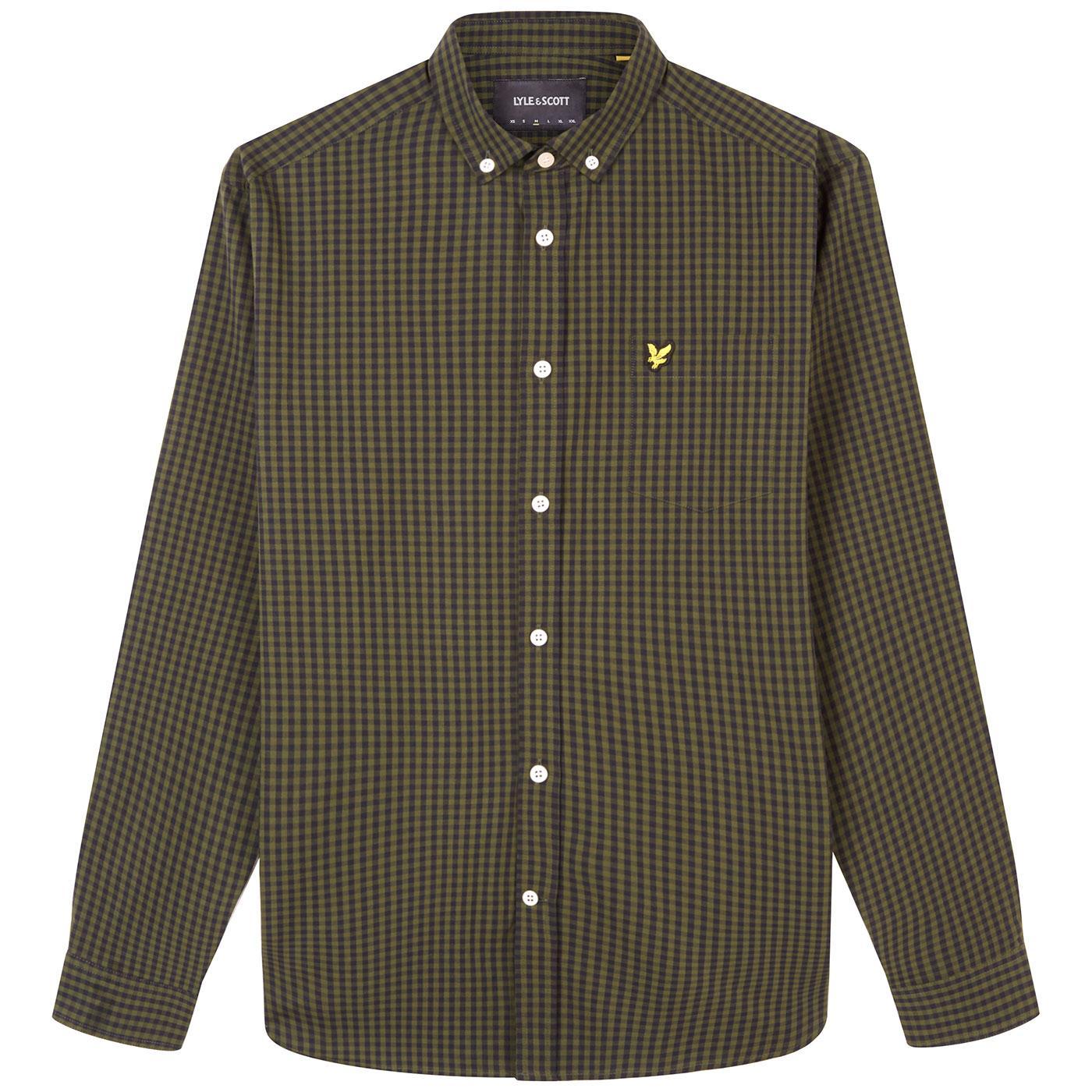 LYLE & SCOTT Mod Button Down Gingham Shirt (B/G)