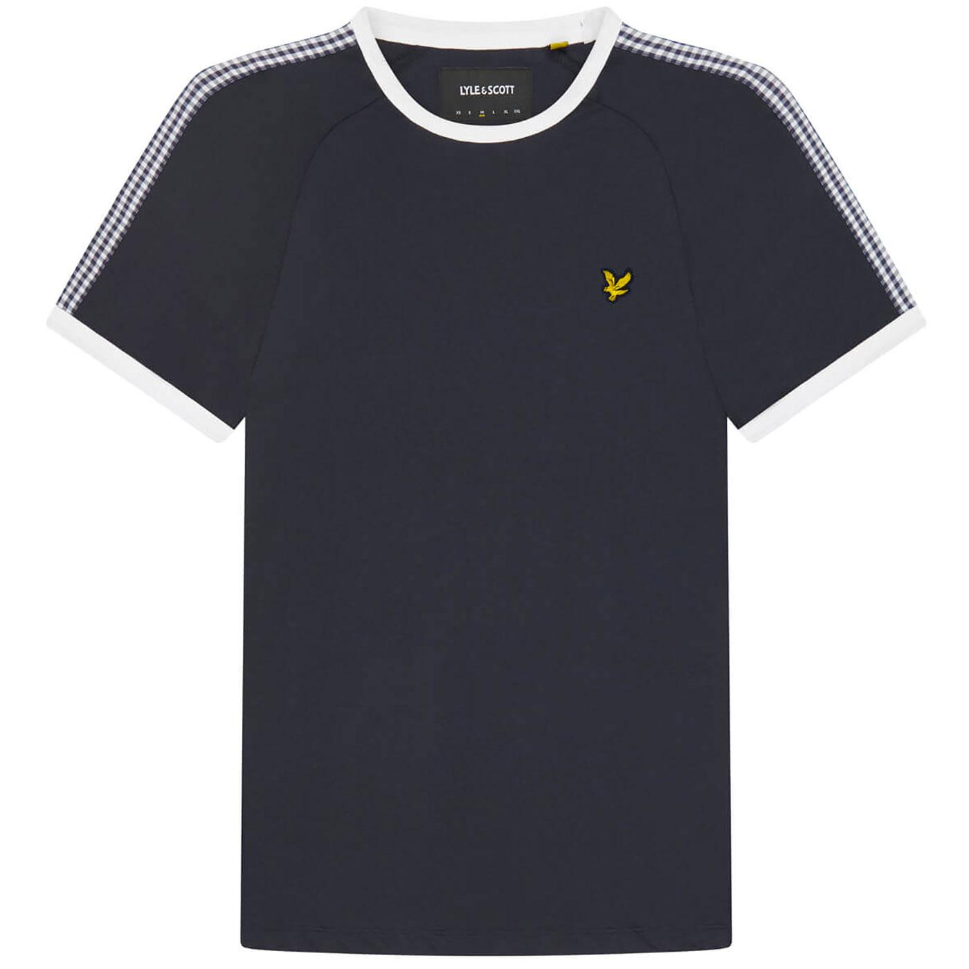 LYLE & SCOTT Retro Gingham Stripe Ringer Tee (DN)