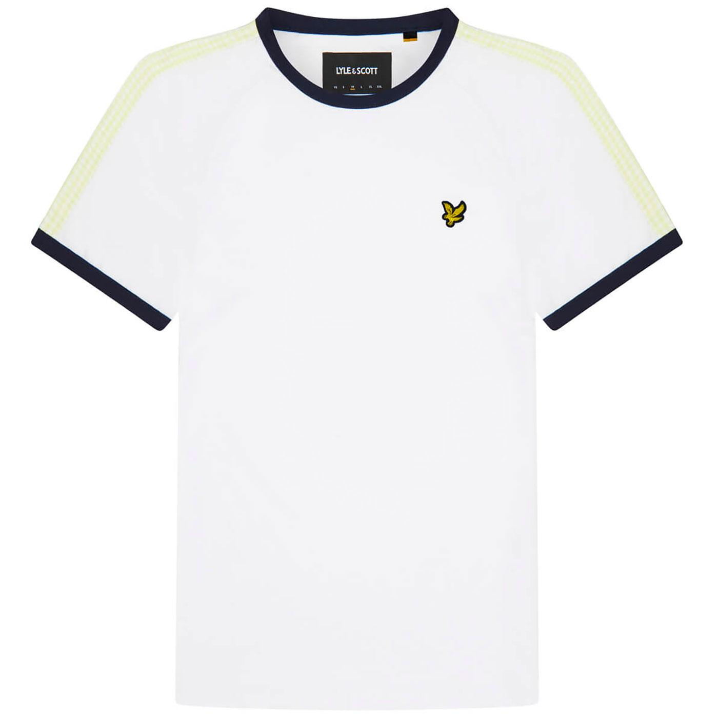 LYLE & SCOTT Retro Gingham Stripe Ringer Tee (W)