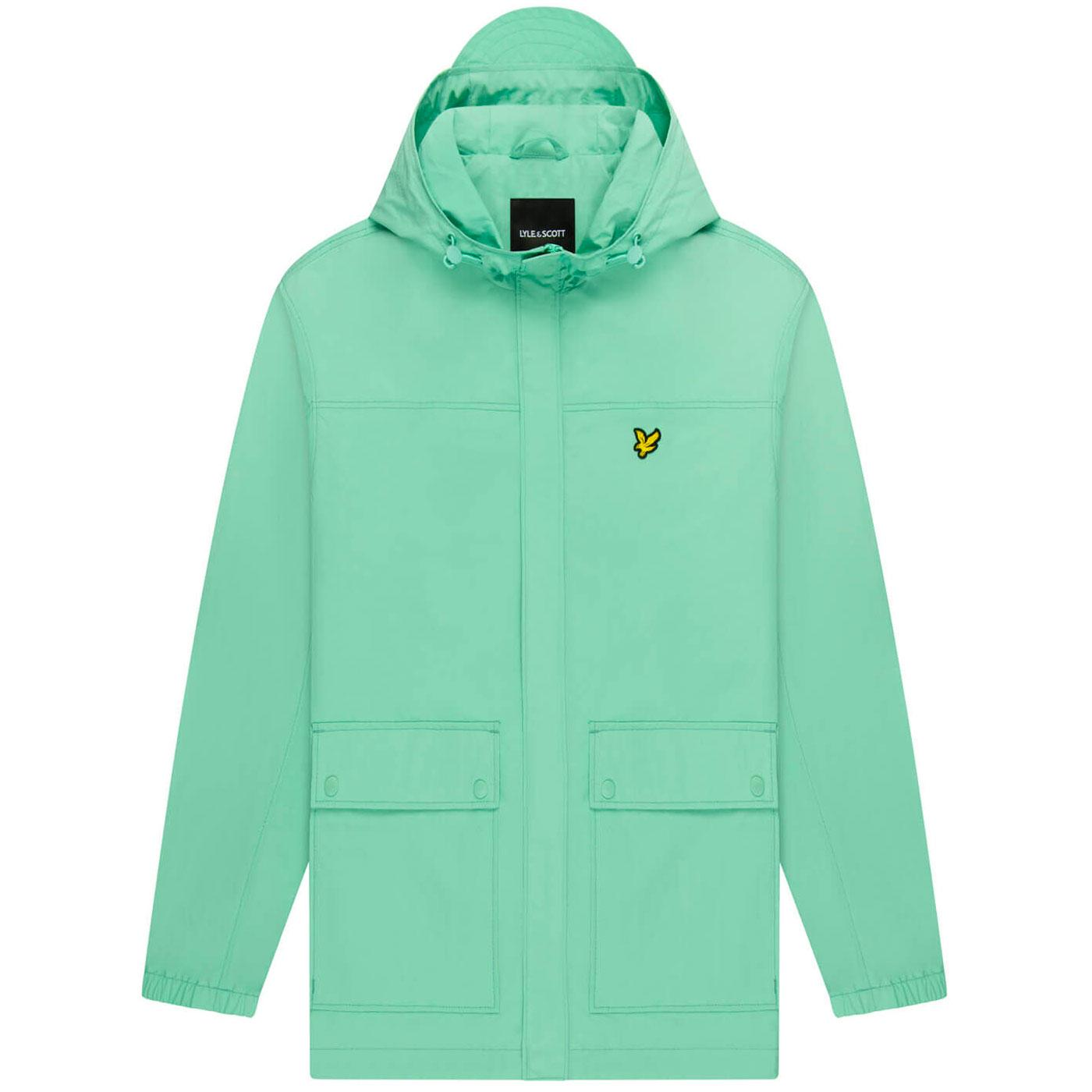 LYLE & SCOTT Retro Hooded Pocket Jacket (Sea Mint)