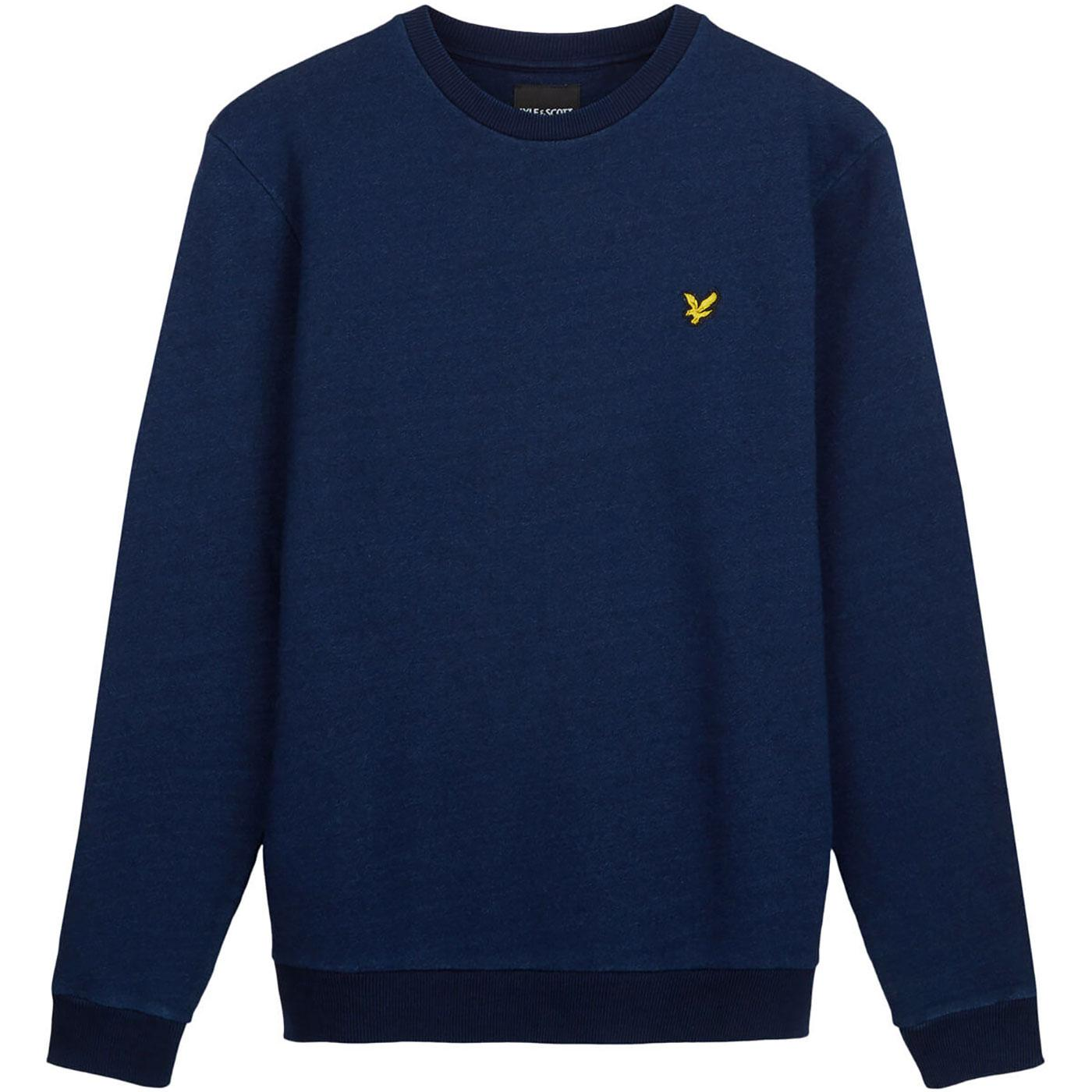LYLE & SCOTT Men's Indigo Dye Crew Neck Sweater