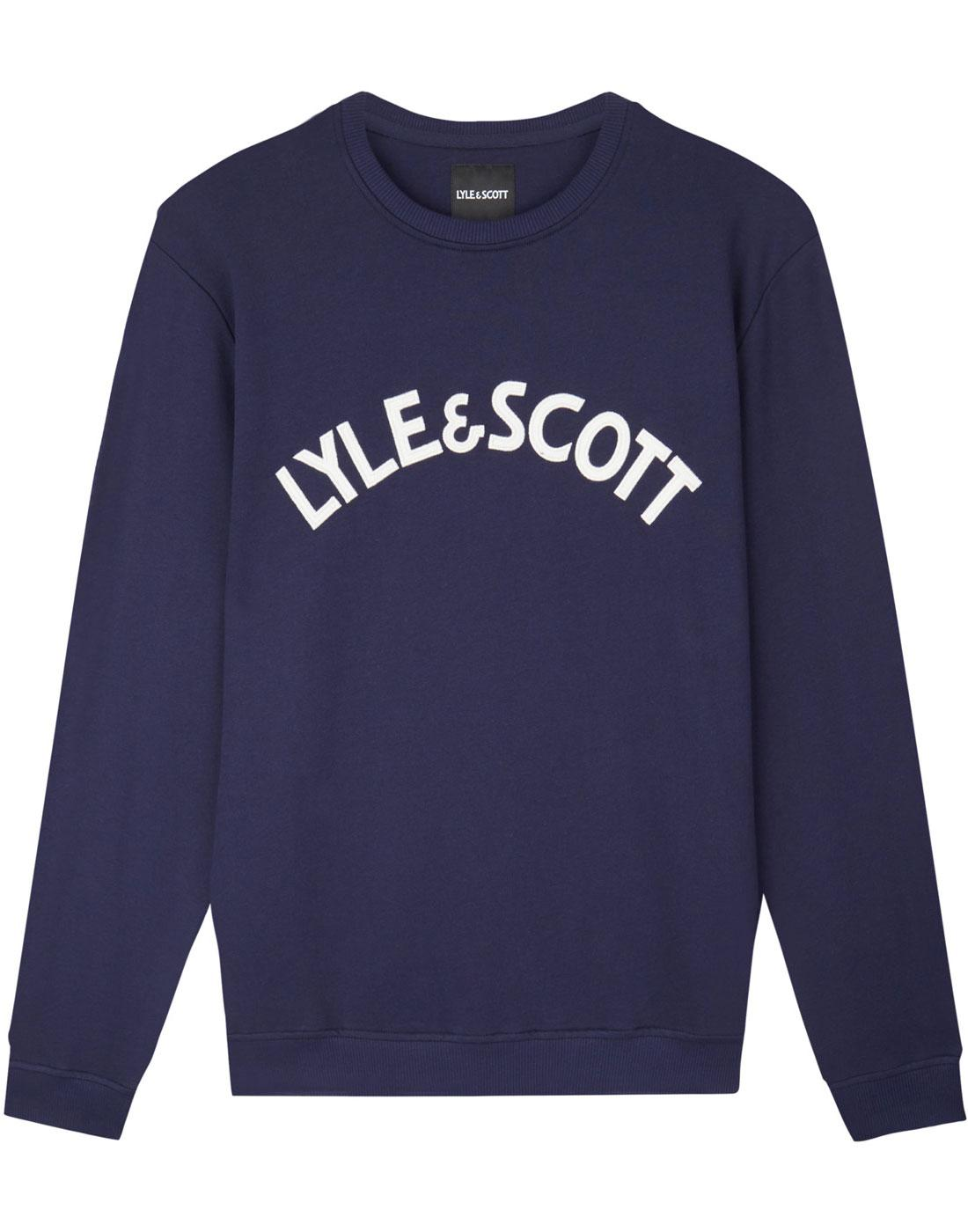 LYLE & SCOTT Men's Retro 70s Varsity Sweatshirt