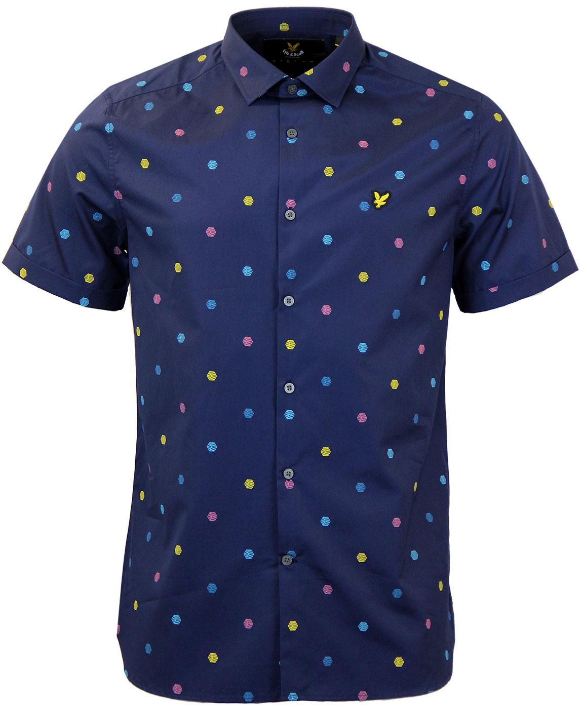 LYLE & SCOTT Retro 60s Micro Chevron Print Shirt