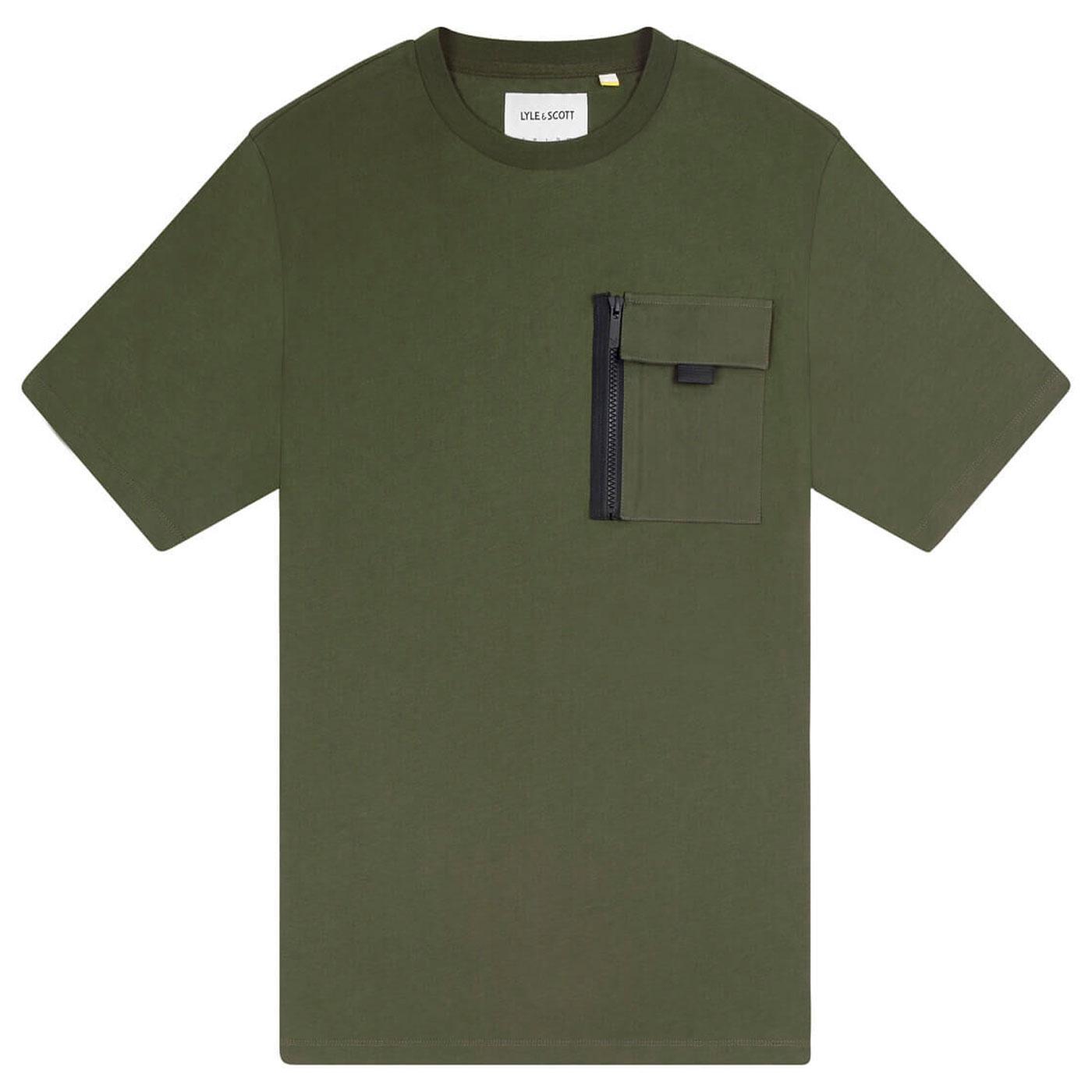LYLE & SCOTT Mod Casuals Retro 80s Zip Pocket Tee