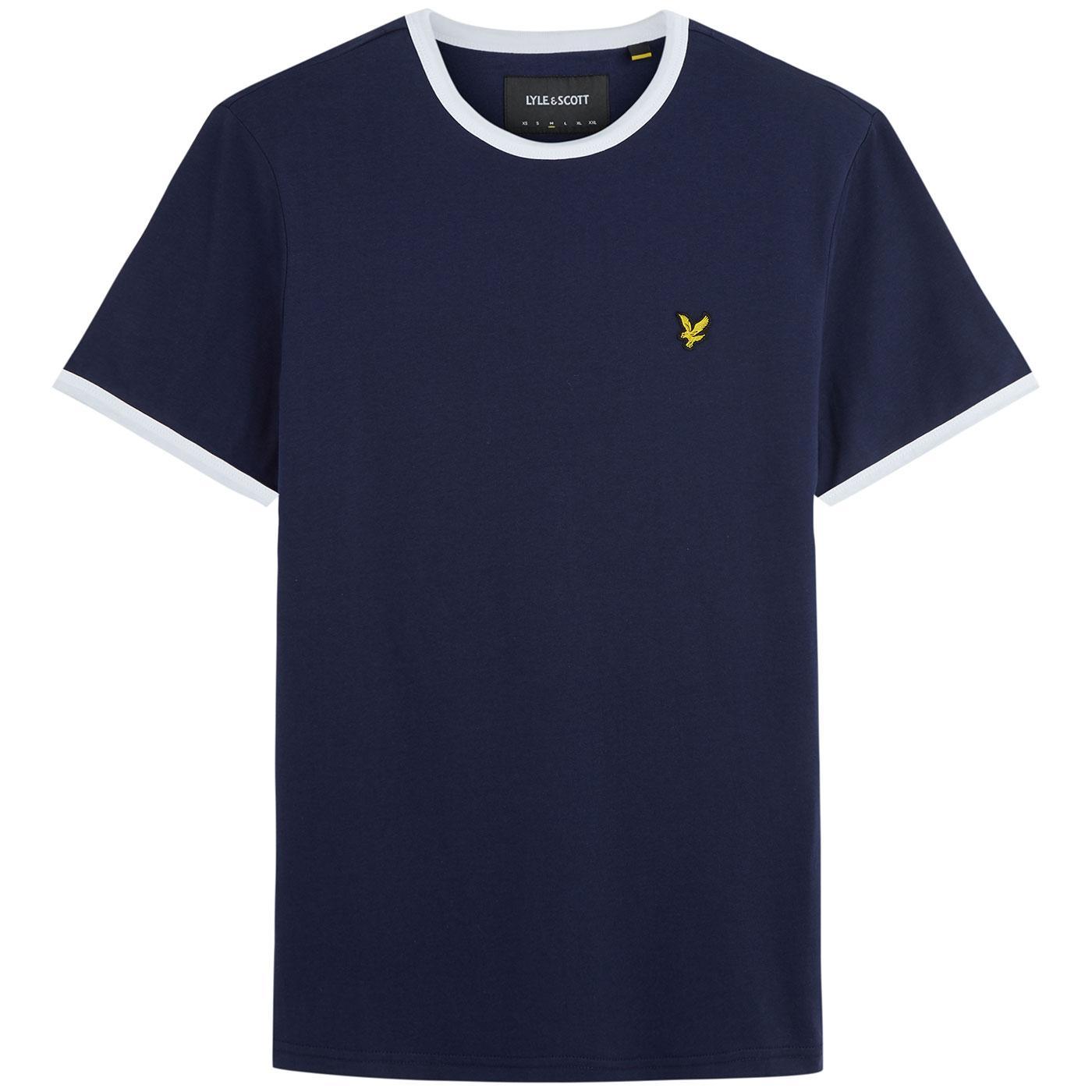 LYLE & SCOTT Mens Retro 1970s Ringer T-Shirt (N/W)