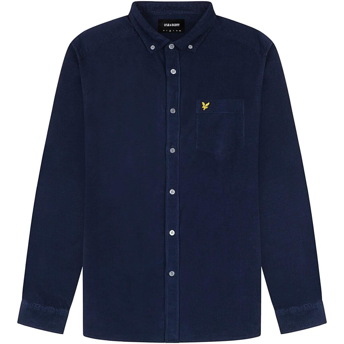 LYLE & SCOTT Mod Button Down Needle Cord Shirt N