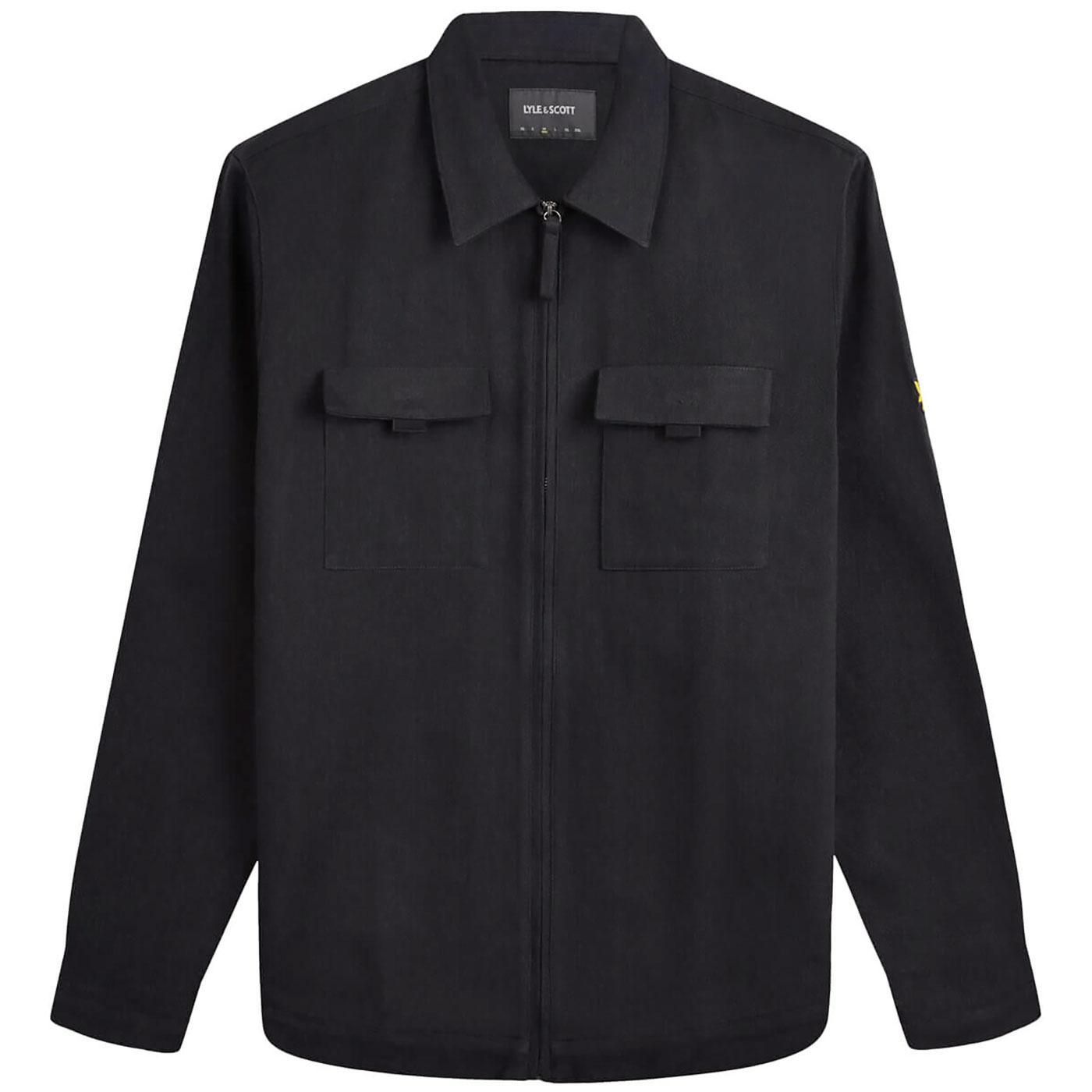 LYLE & SCOTT Zip Through Cotton Twill Overshirt B